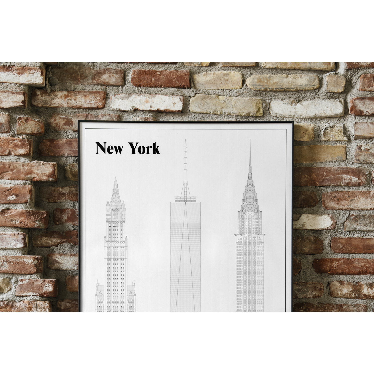 New York Elevations poster