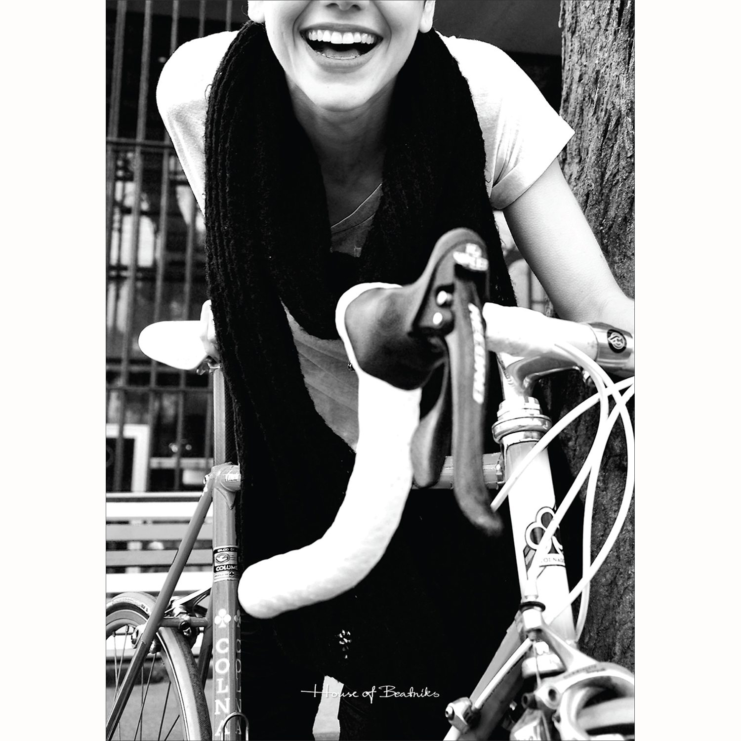 Girl On Fixie poster, 50x70