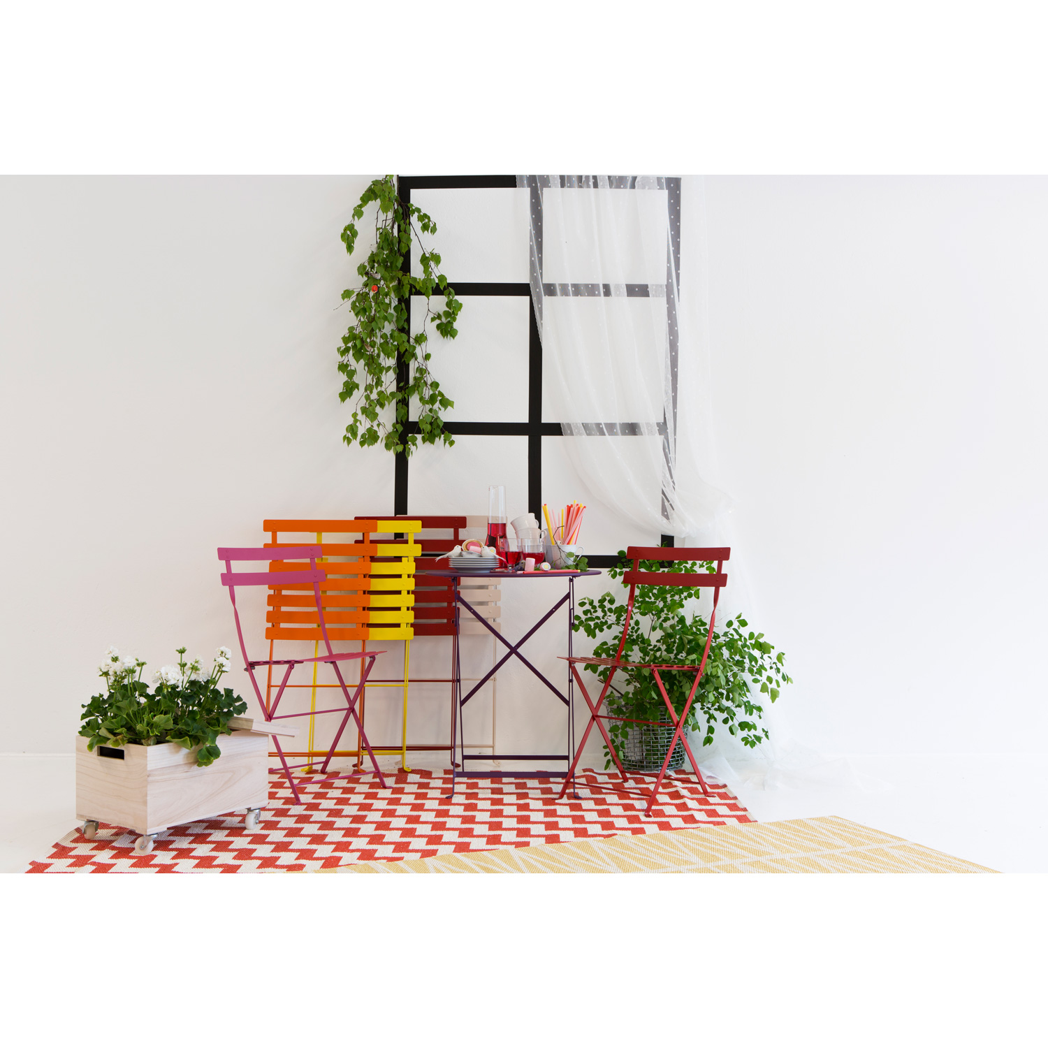 Bistro Metal stol, poppy red