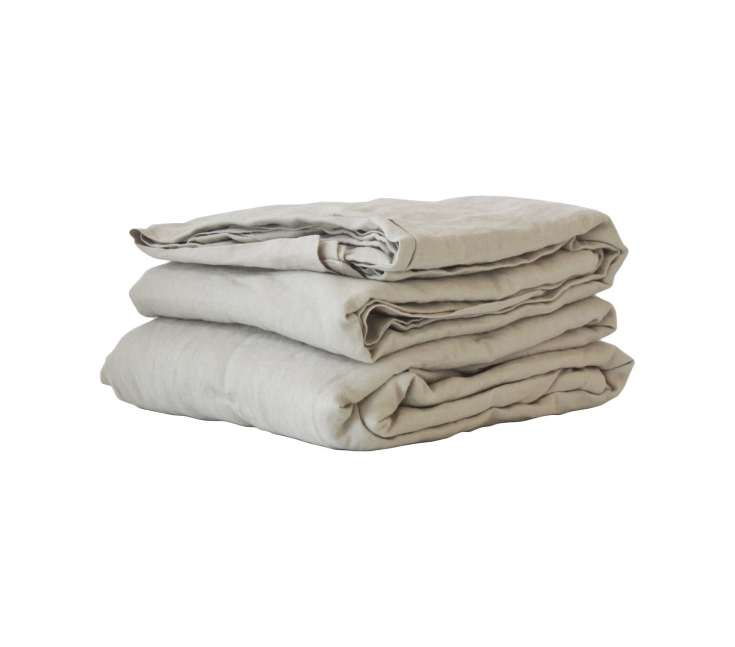Washed Linen underlakan 270x270, warm grey