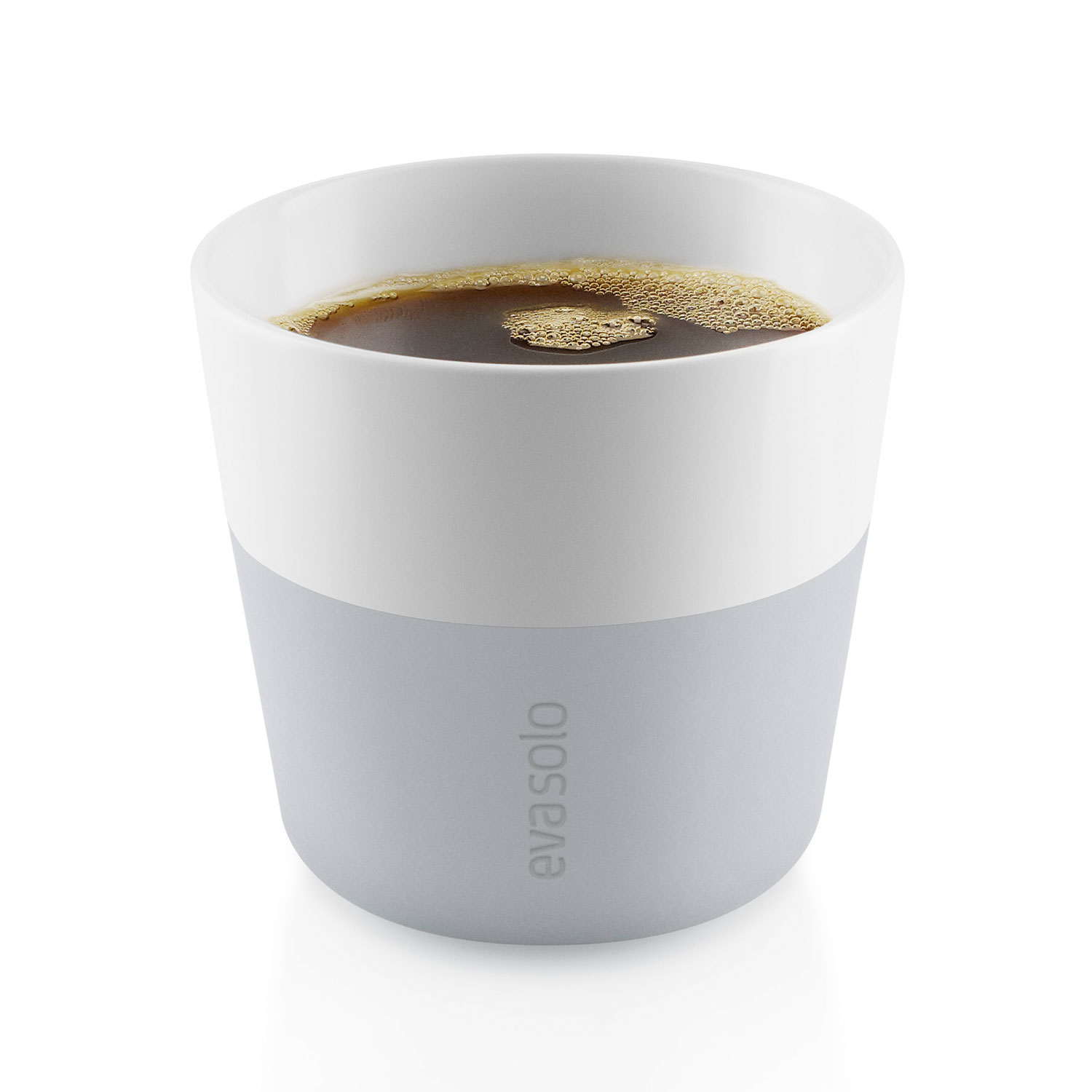 Lungo mugg 2-pack, marble grey