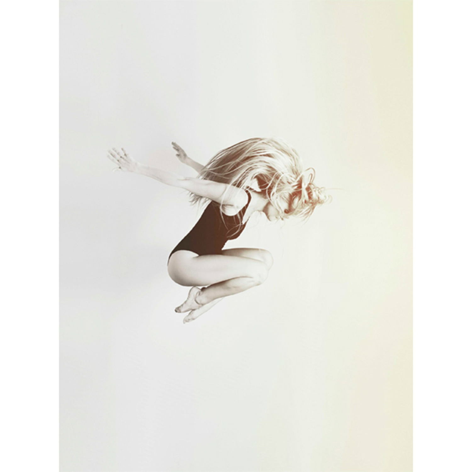 Ballerina on White poster, 50x70