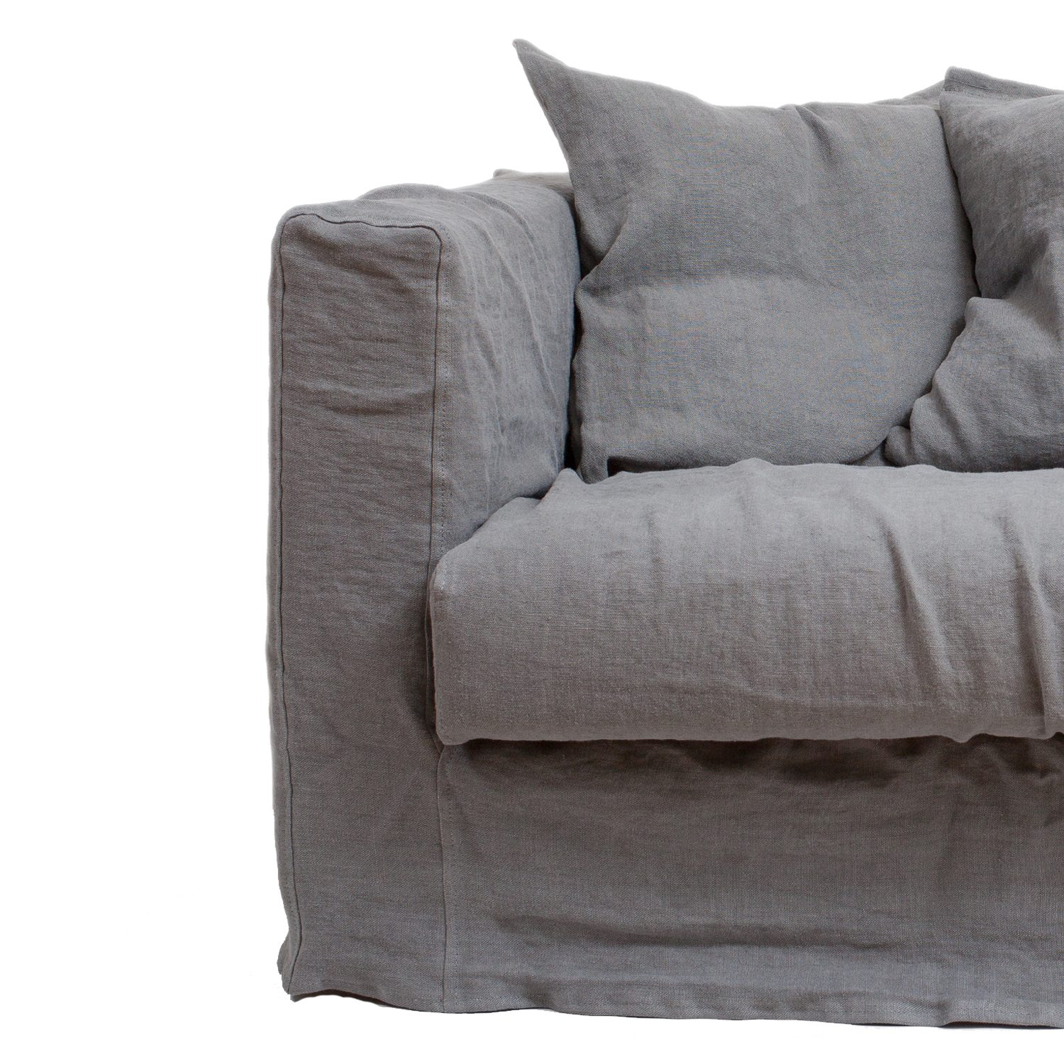 Le Grand Air Loveseat klädsel, Smokey Granite