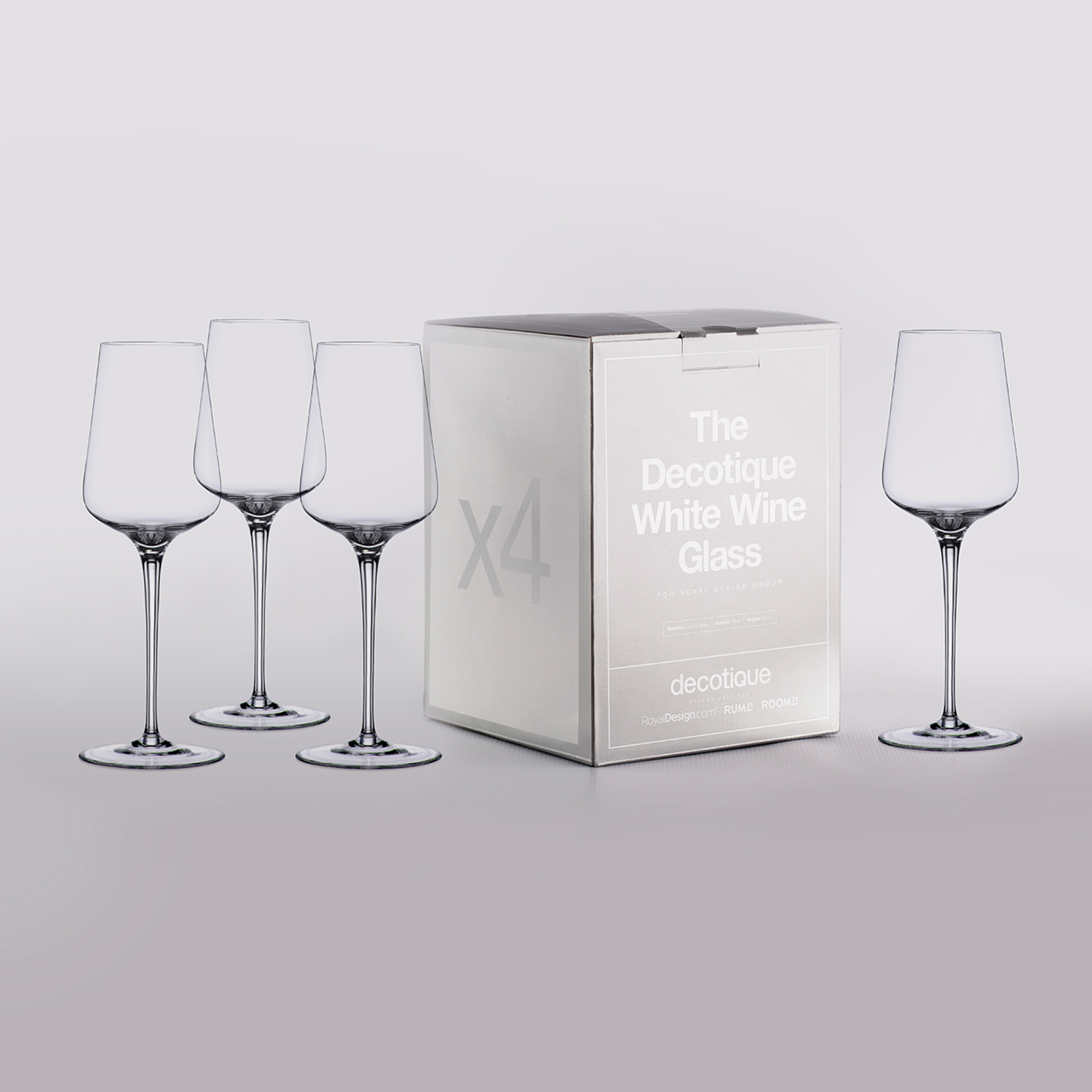 Decotique vitvinsglas, 4-pack