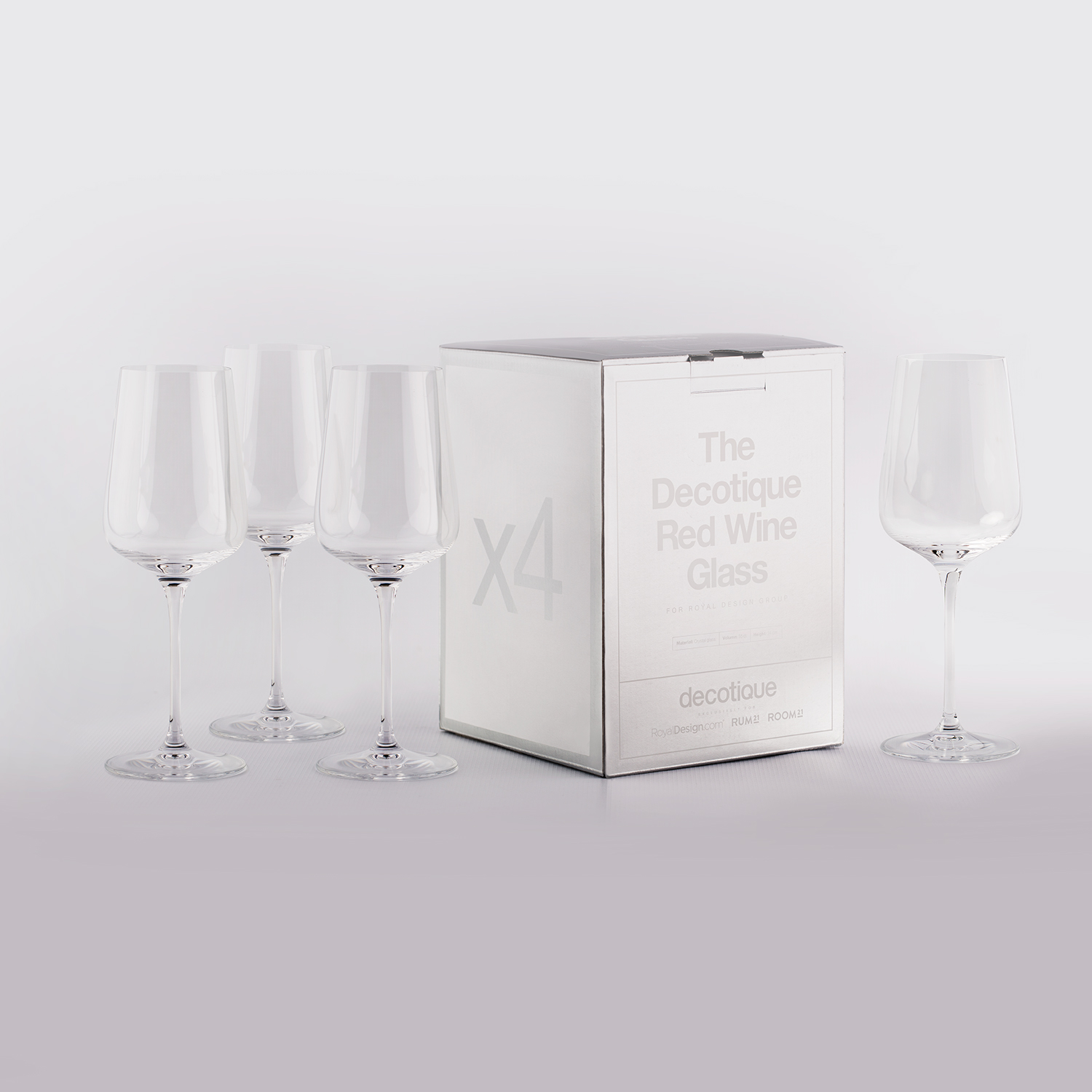 Decotique rödvinsglas, 4-pack