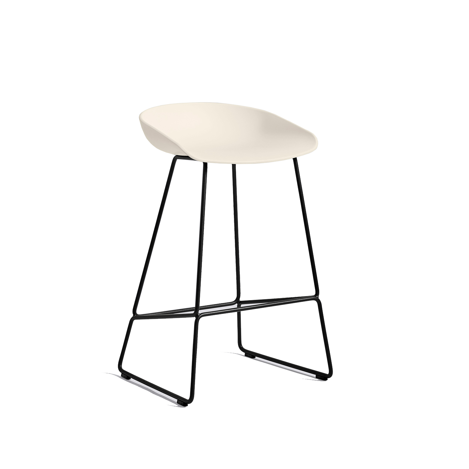 About a Stool 38 barstol h65, cream white/svart