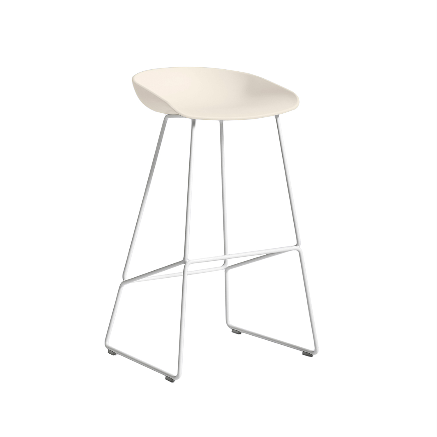 About a Stool 38 barstol h75, cream white/vit