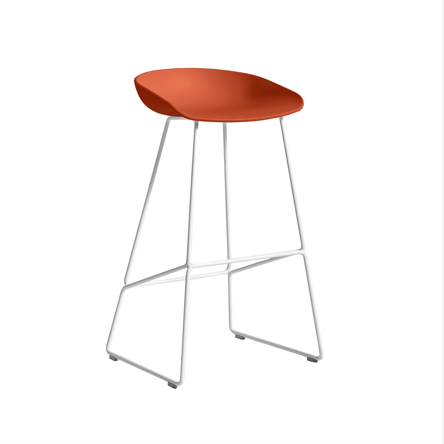 About a Stool 38 barstol h75, orange/vit