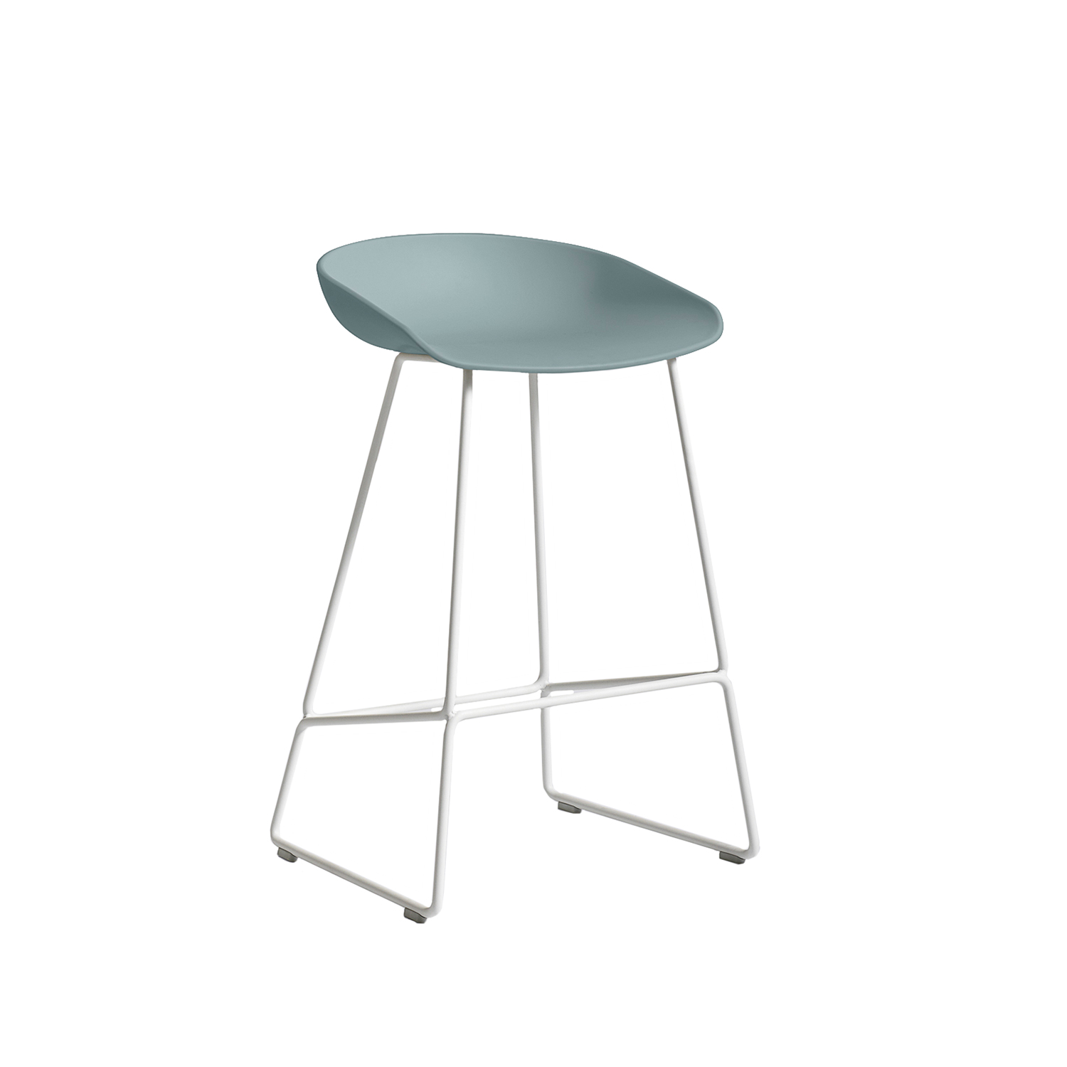 About a Stool 38 barstol h65, dusty blue/vit