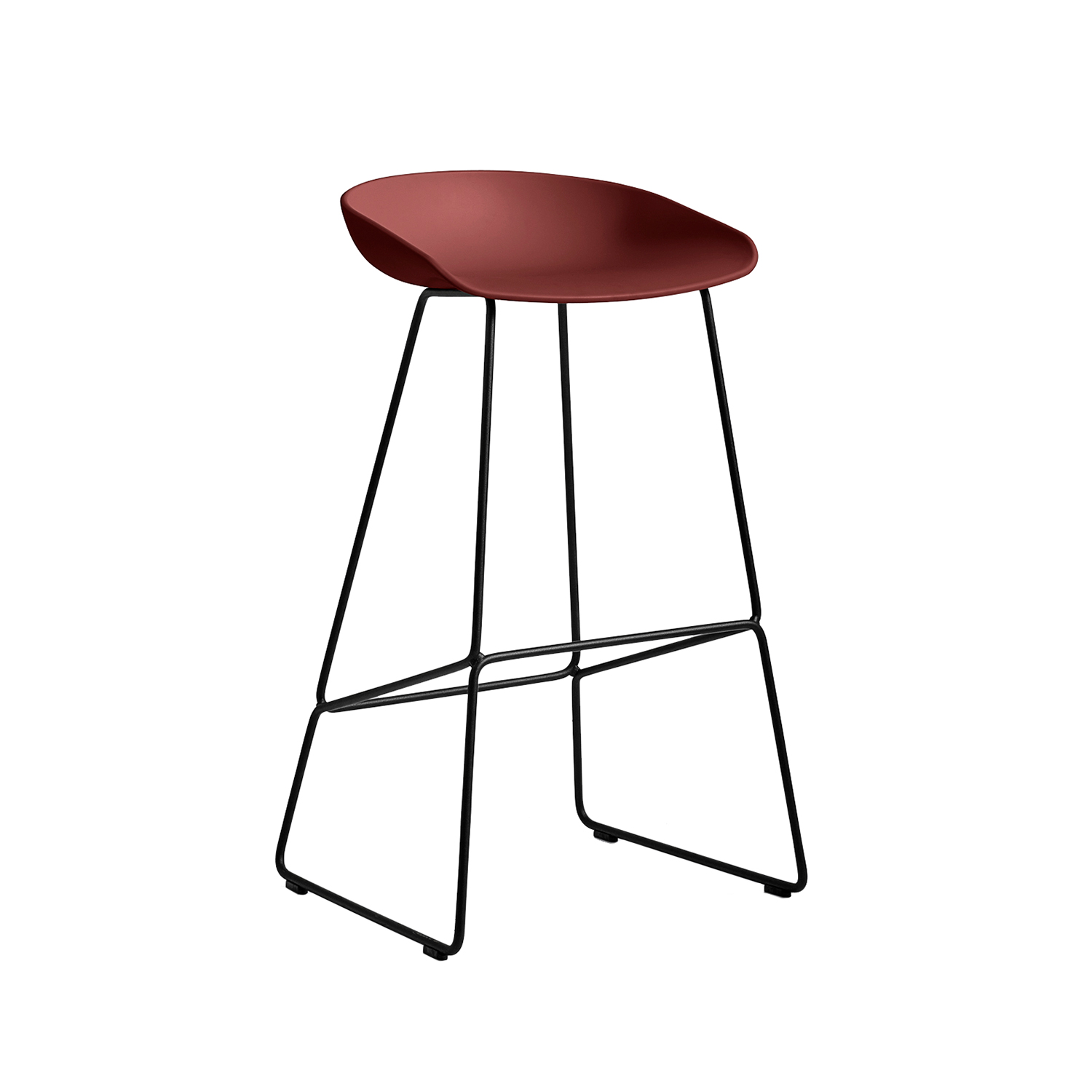 About a Stool 38 barstol h75, tegel/svart
