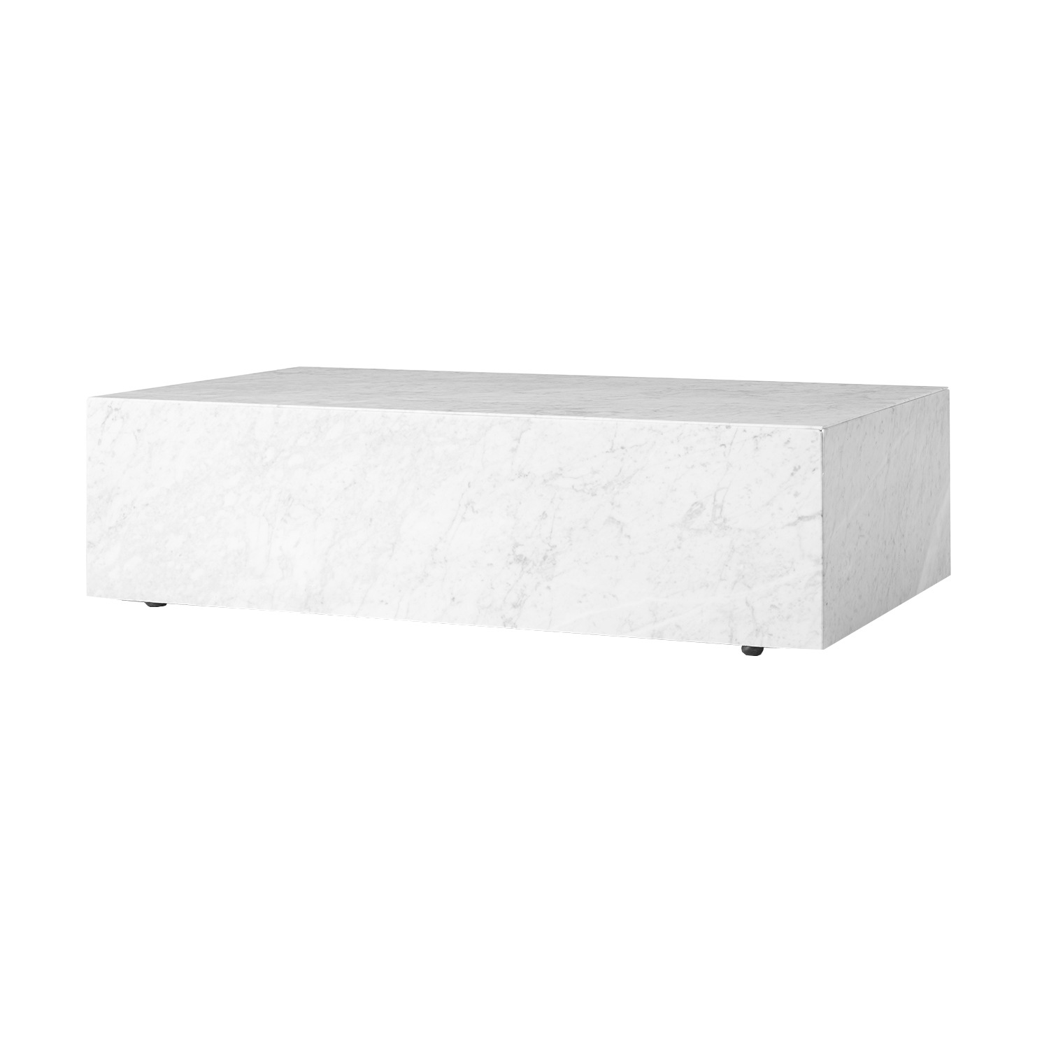 Plinth low soffbord, vit marmor