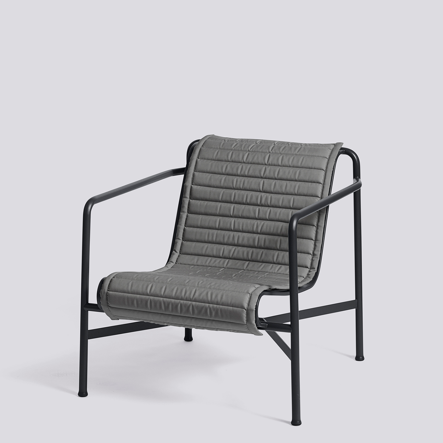 Palissade Quiltad dyna loungestol låg, anthracite