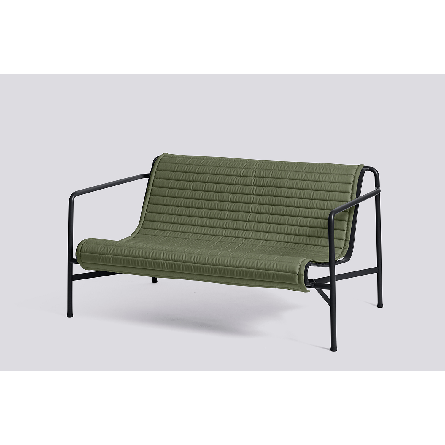 Palissade Quiltad dyna loungesoffa, olive