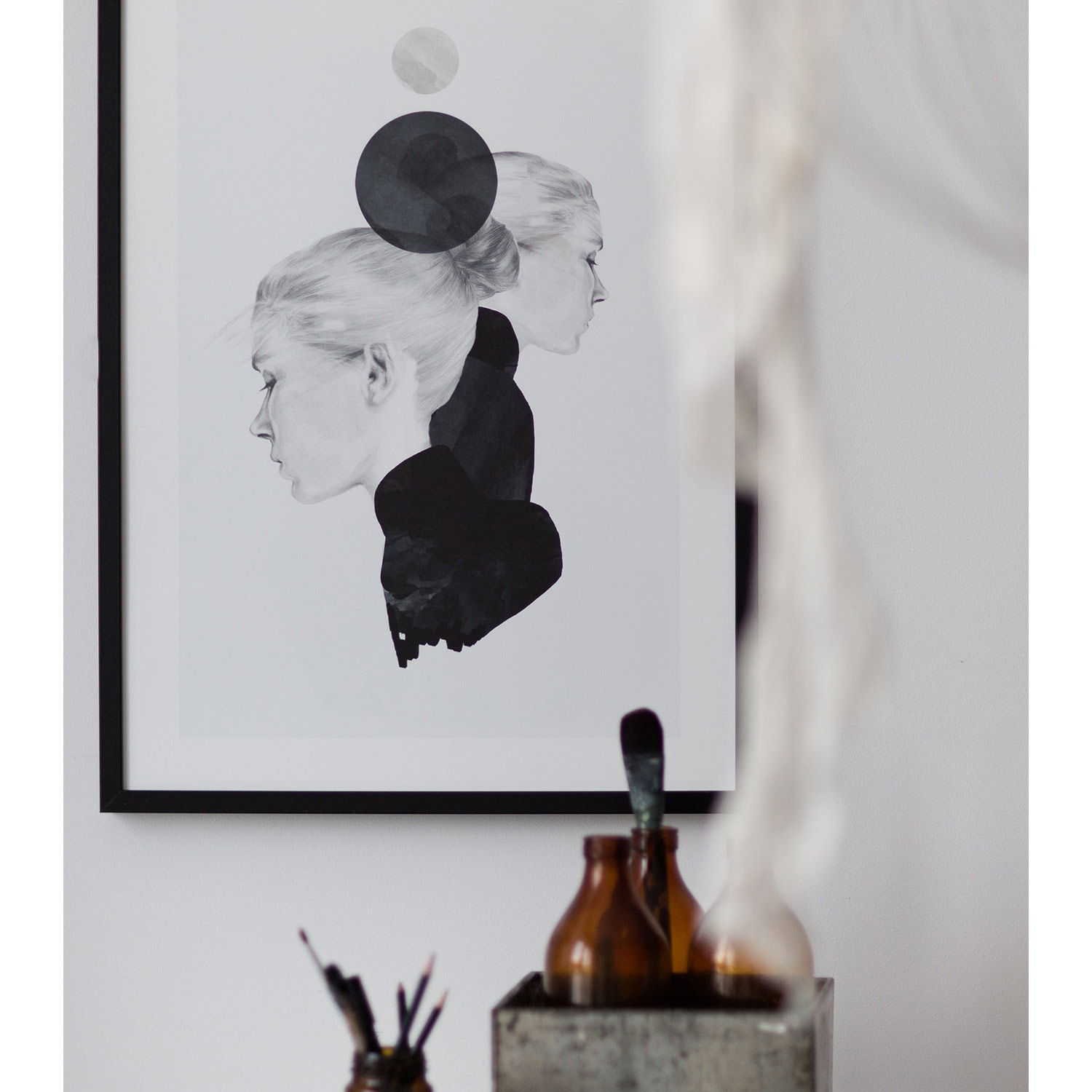 Black marble poster 50x70