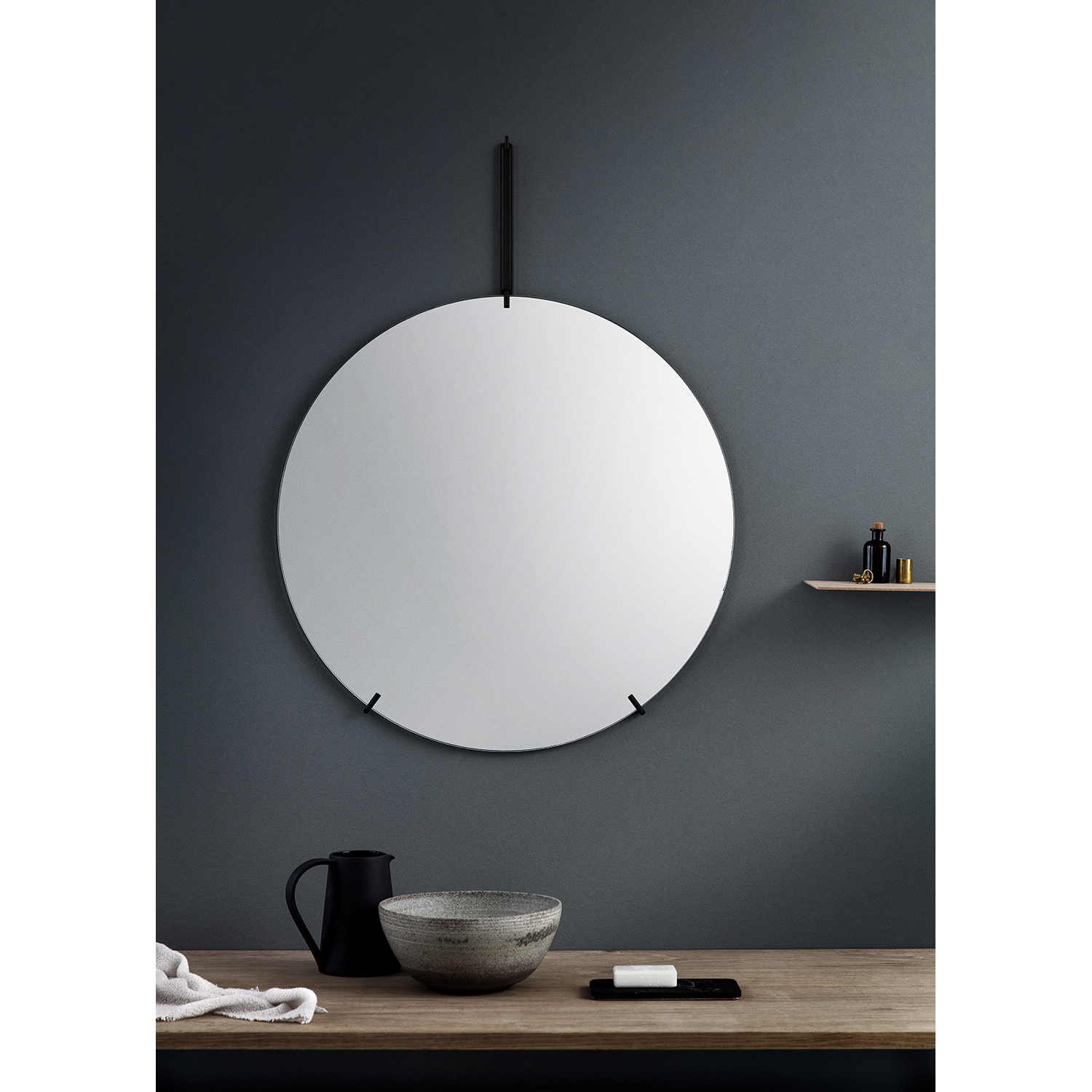 Wall Mirror spegel M, svart