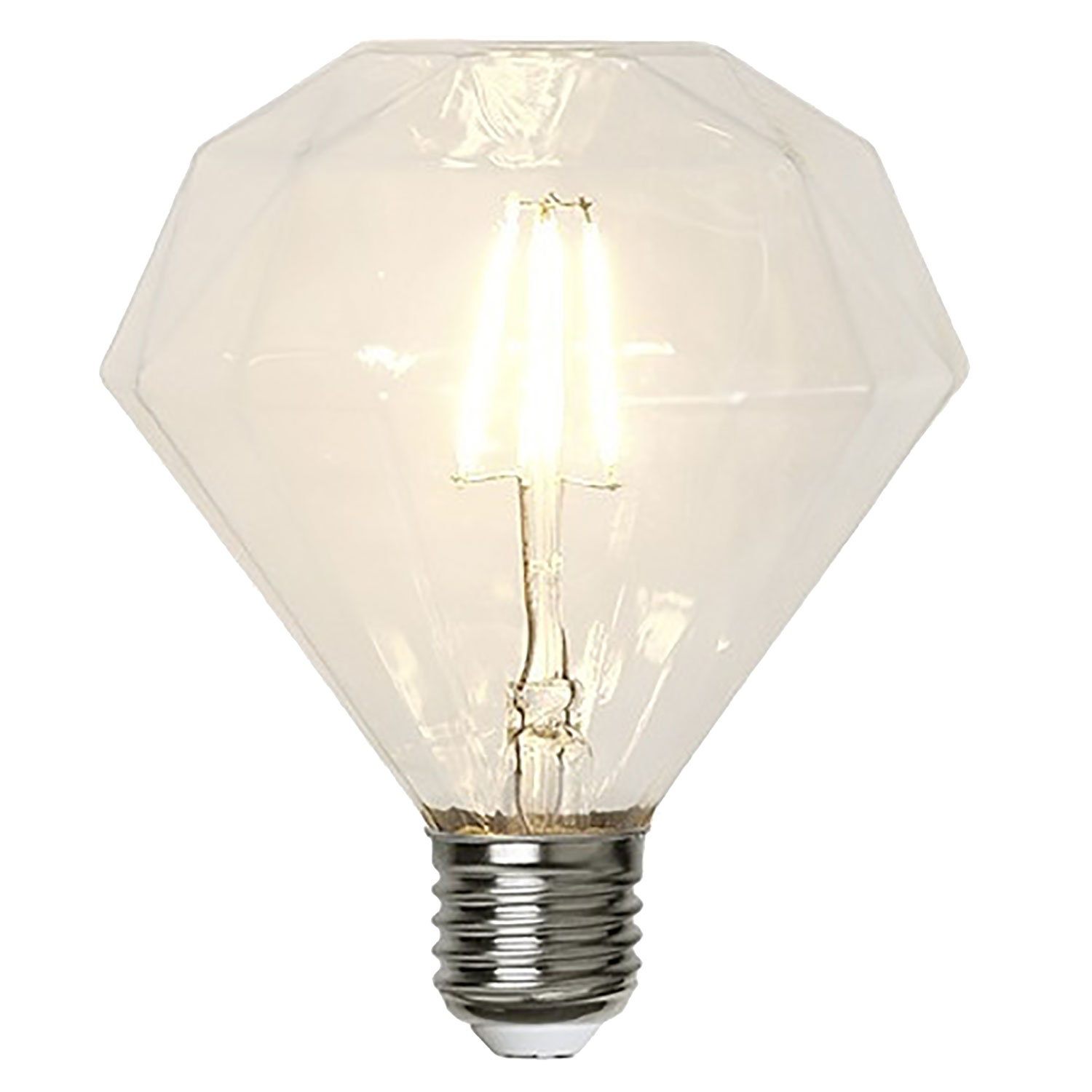 LED-lampa E27 filament, transparent