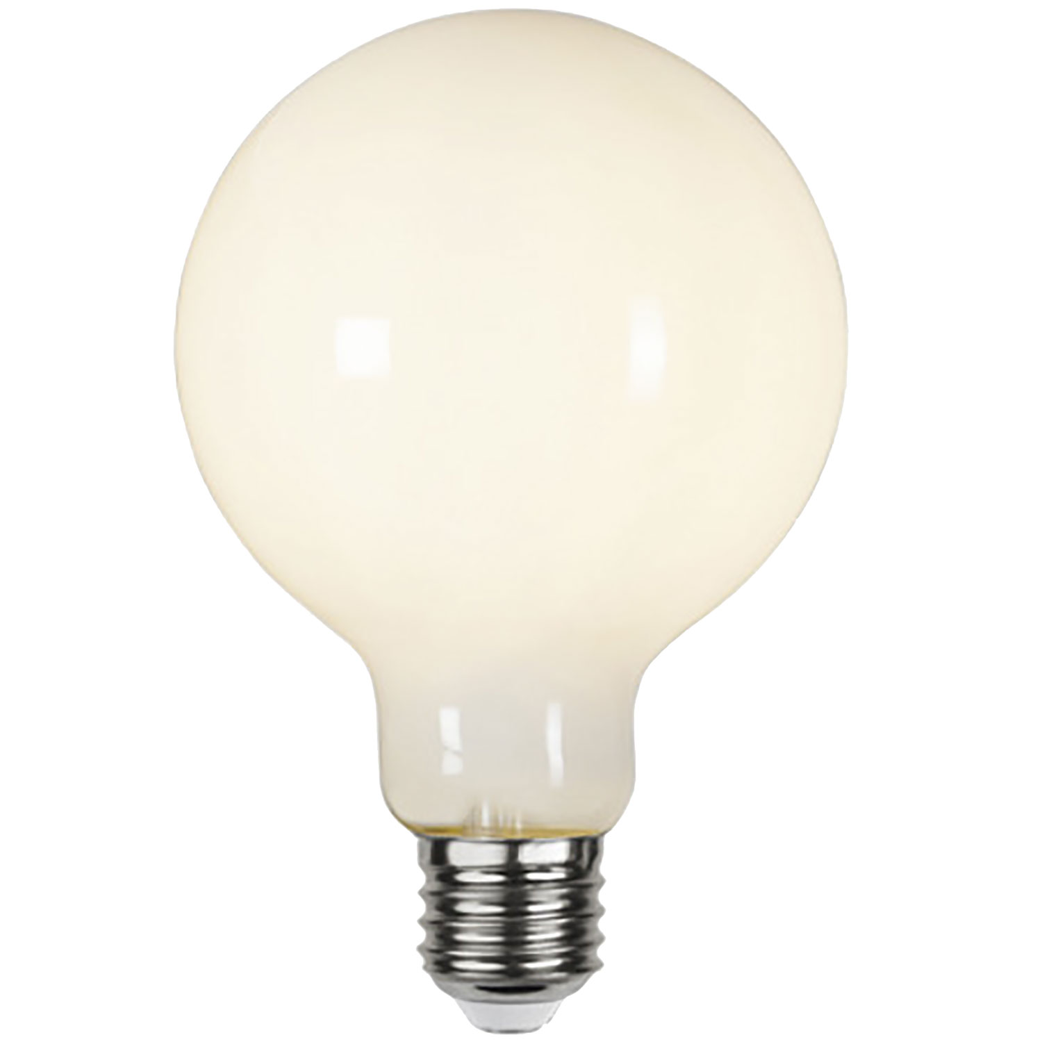 LED-lampa E27 G95 opaque, opal