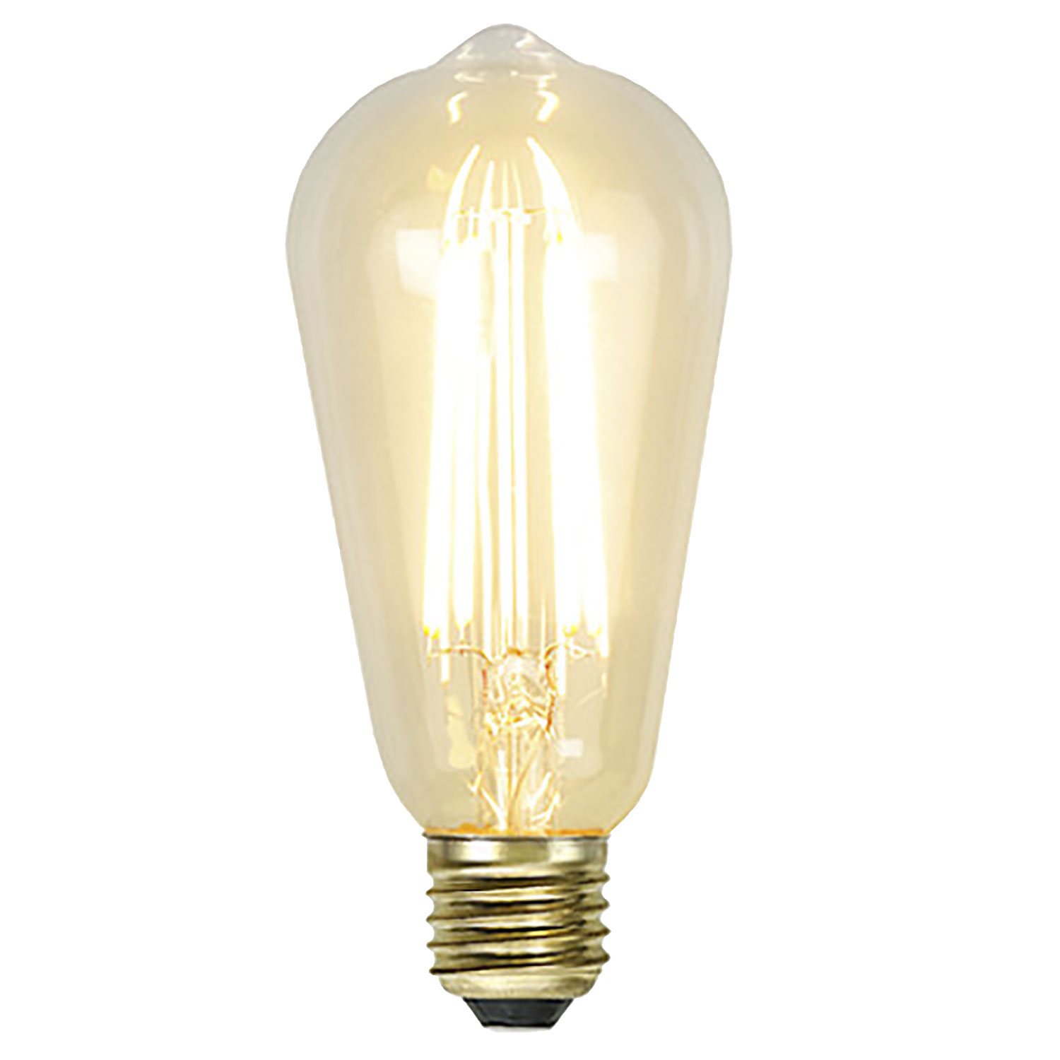 LED-lampa E27 ST64 soft glow dimmable, transparent