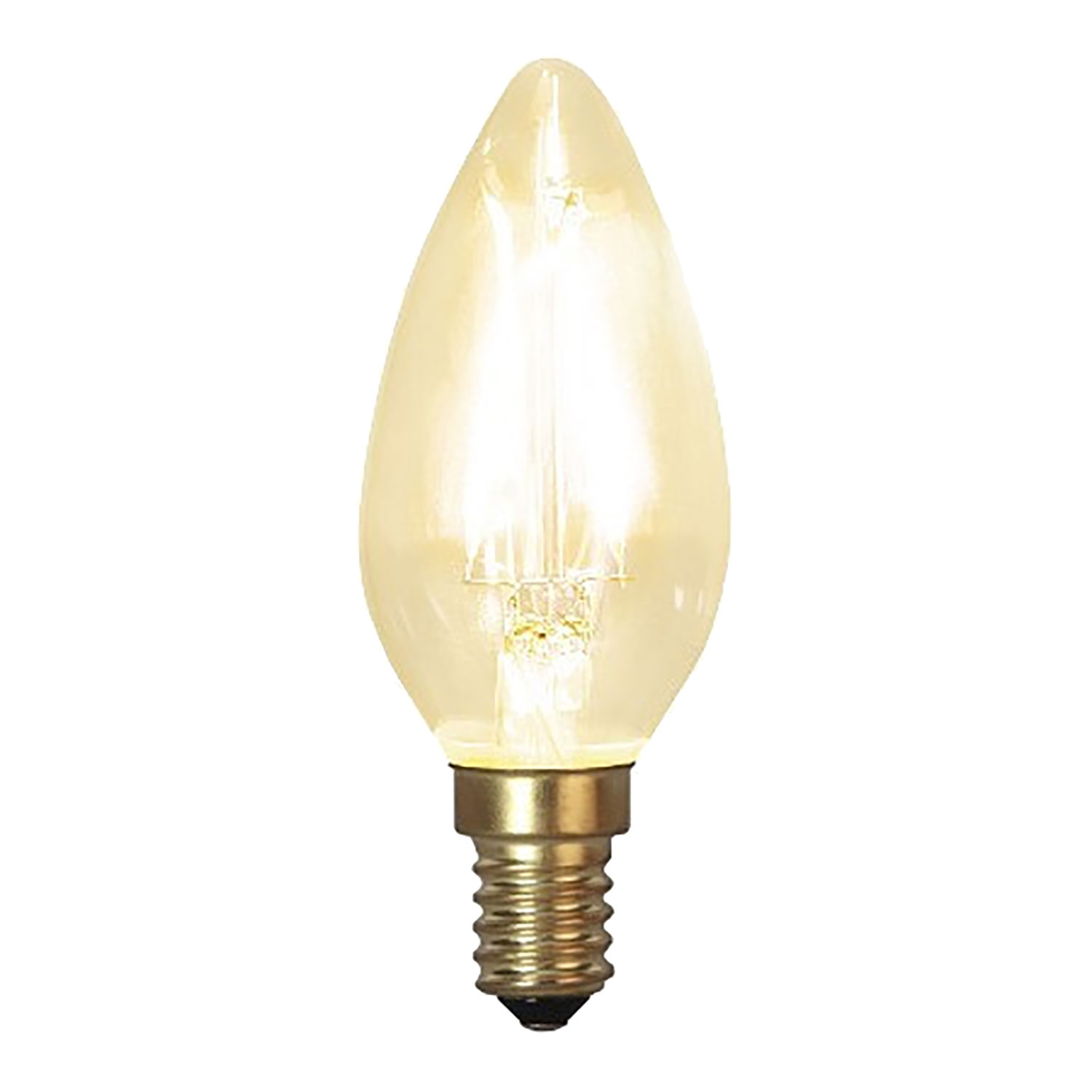 LED-lampa E14 C35 soft glow, transparent