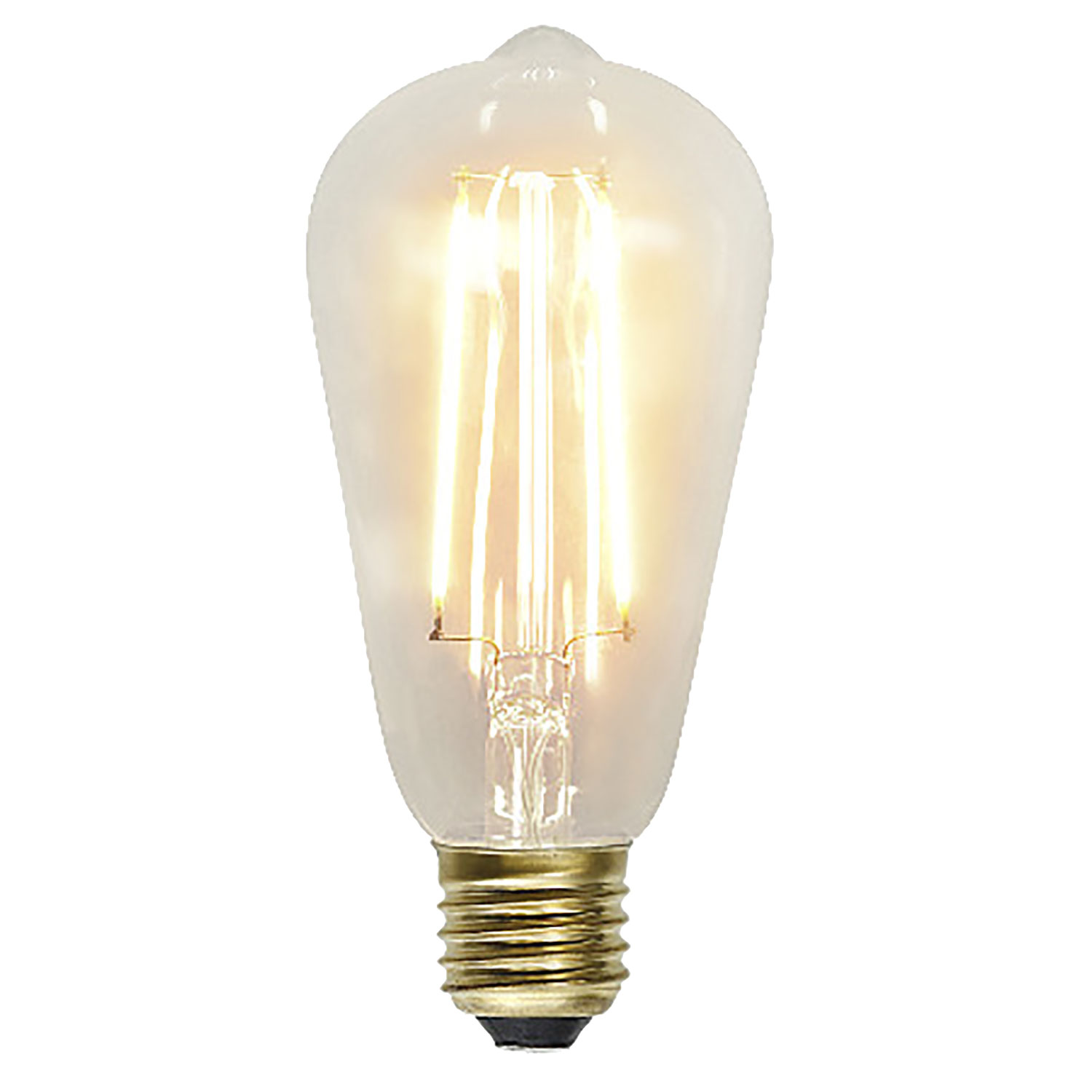 LED-lampa E27 ST64 soft glow, transparent