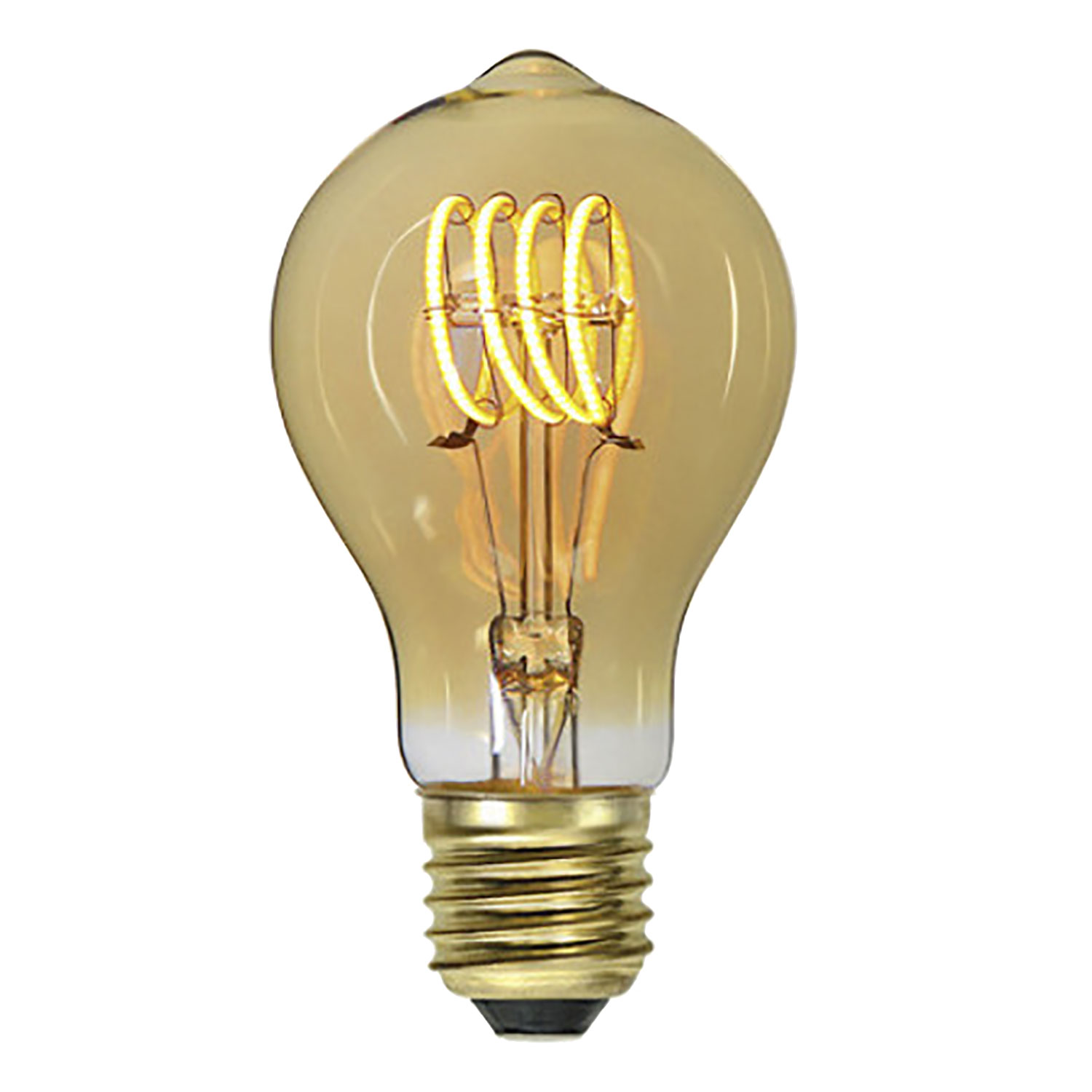 LED-lampa E27 A60 flexifilament, amber