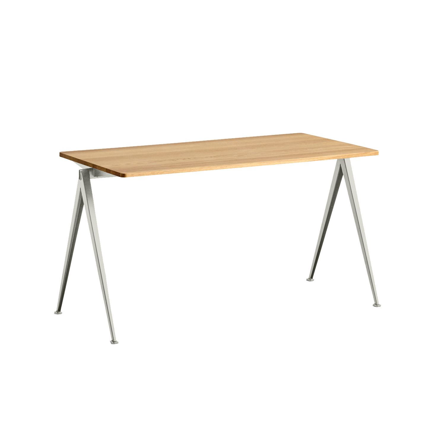 Pyramid desk 01 140x65, beige frame/clear