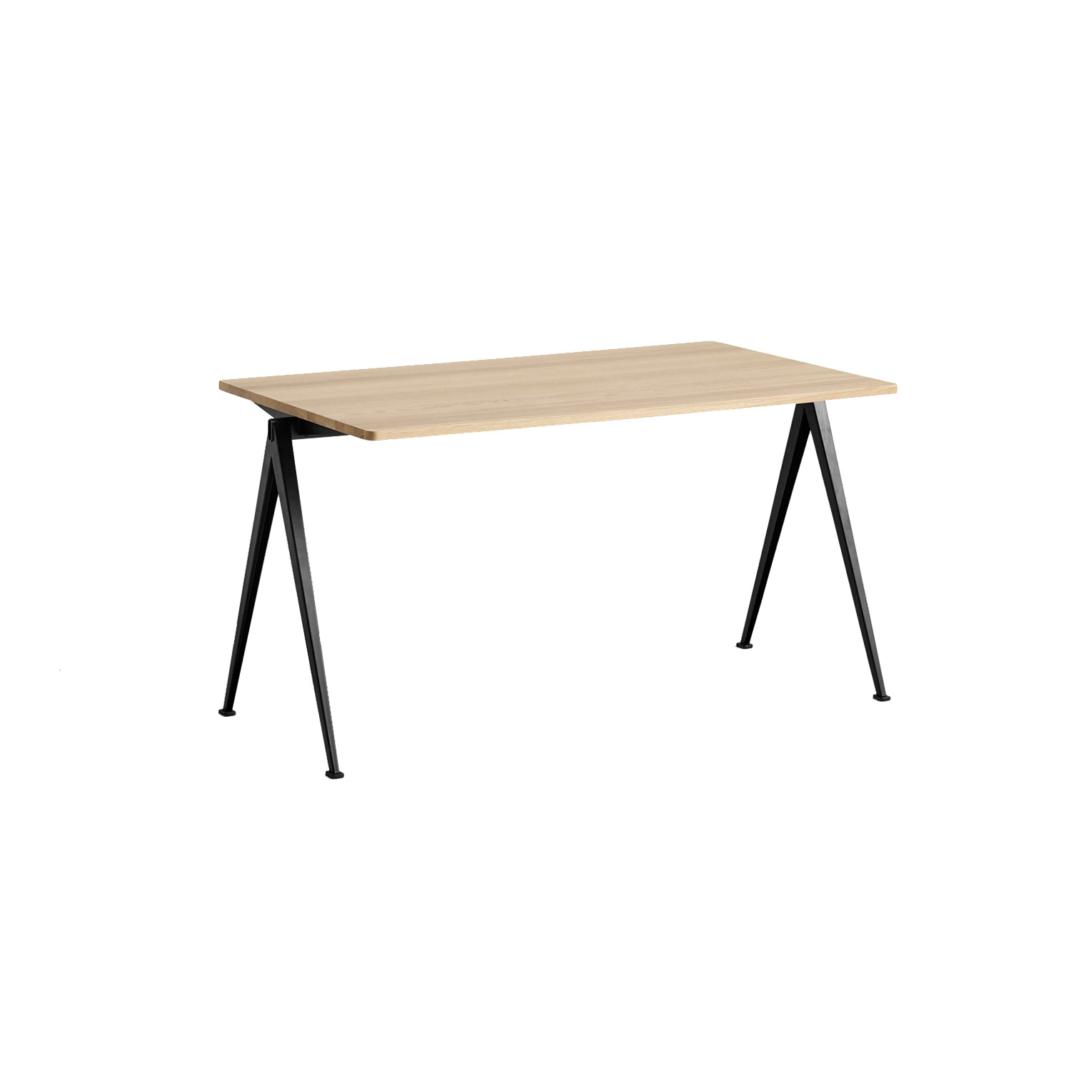 Pyramid desk 01 140x75, black frame/matt