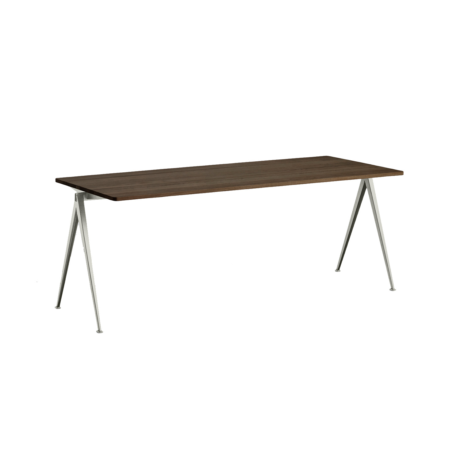 Pyramid desk 01 200x75, beige frame/smoked