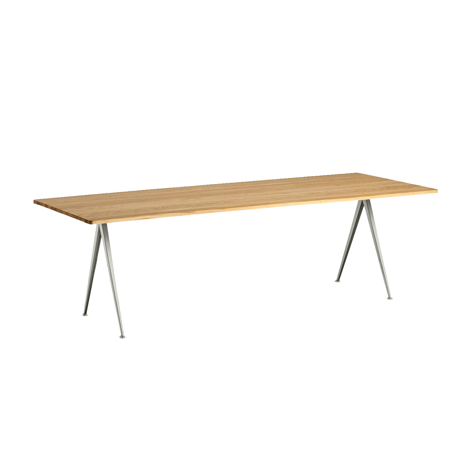 Pyramid table 02 250x85, beige frame/clear