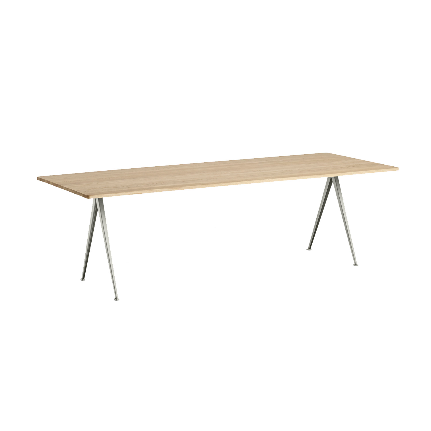 Pyramid table 02 250x85, beige frame/matt