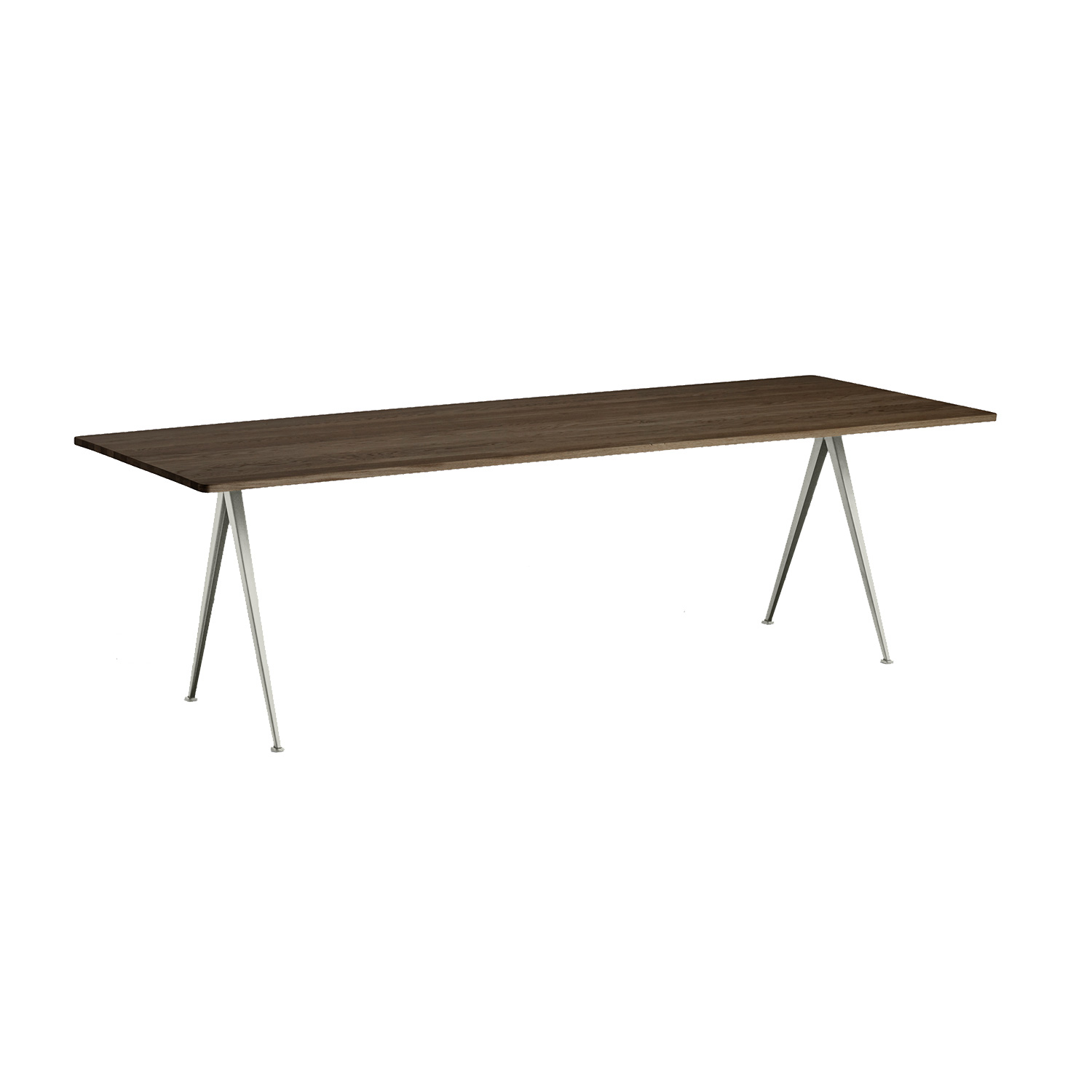 Pyramid table 02 250x85, beige frame/smoked