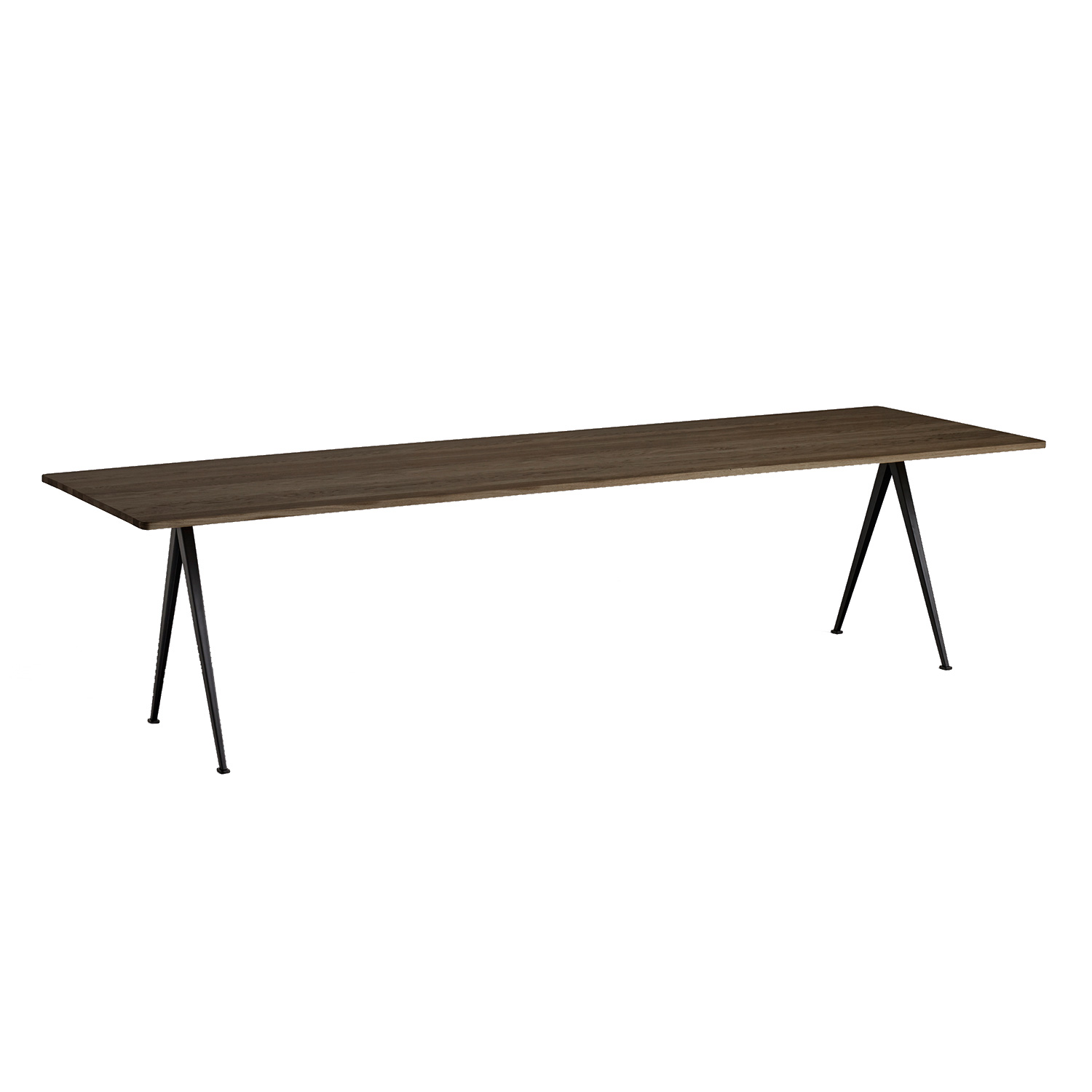 Pyramid table 02 300x85, black frame/smoked