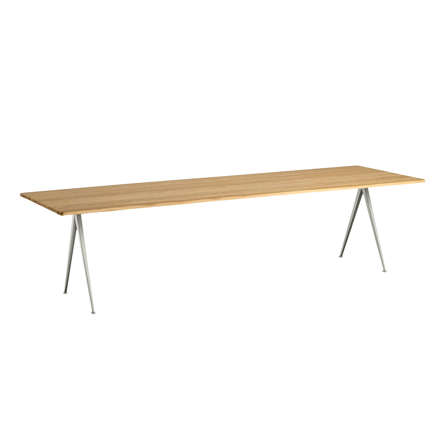 Pyramid table 02 300x85, beige frame/clear
