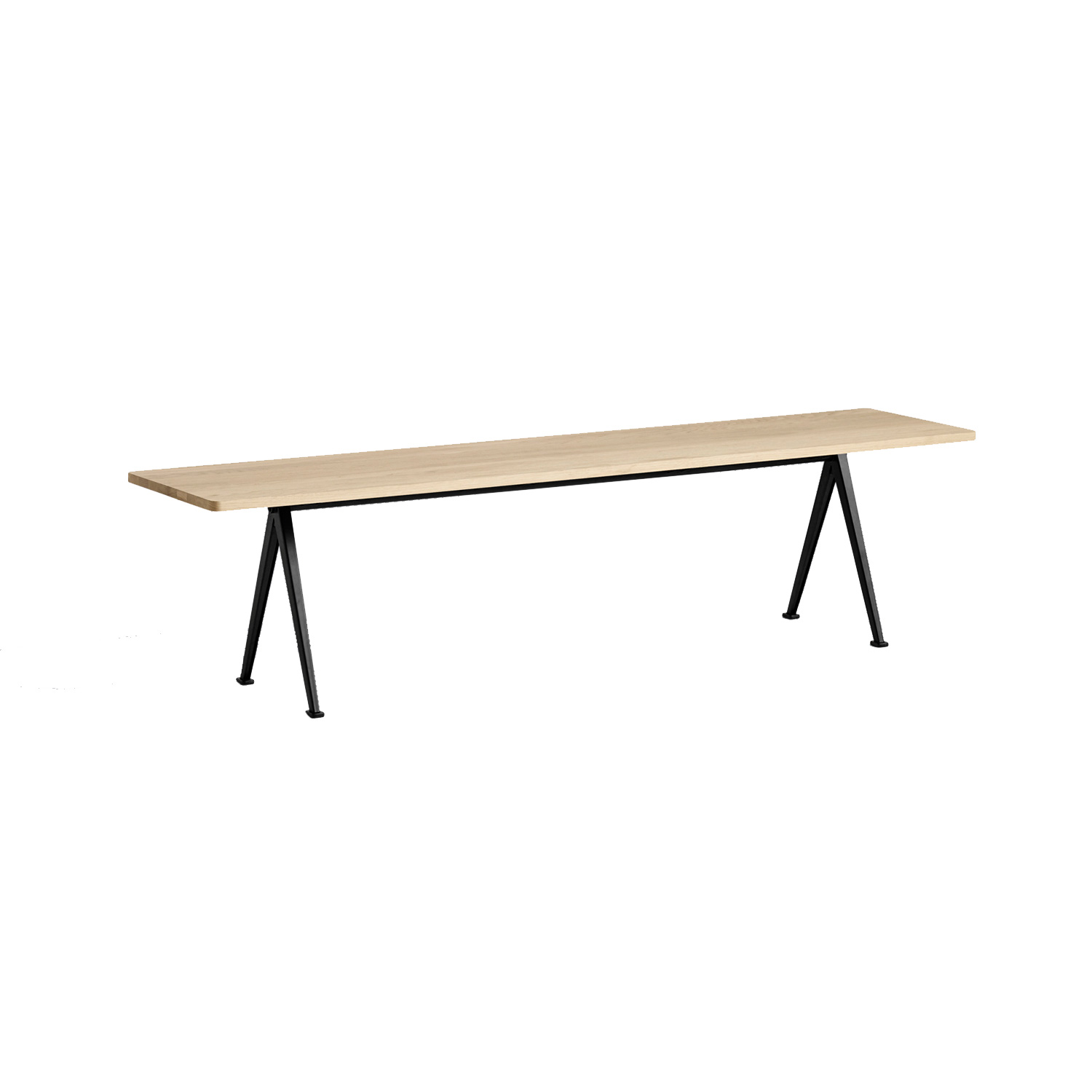 Pyramid bench 12 190x40, black frame/matt