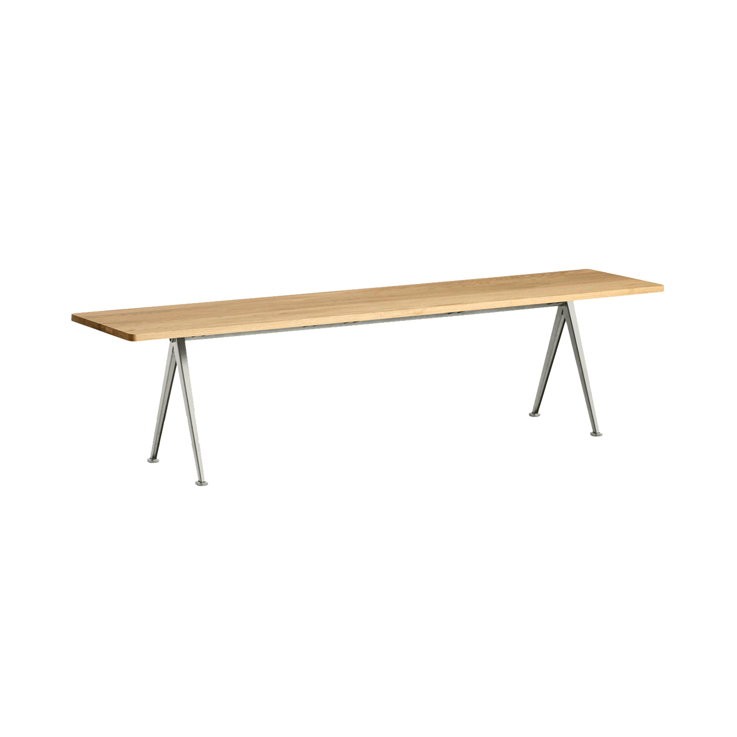 Pyramid bench 12 190x40, beige frame/clear