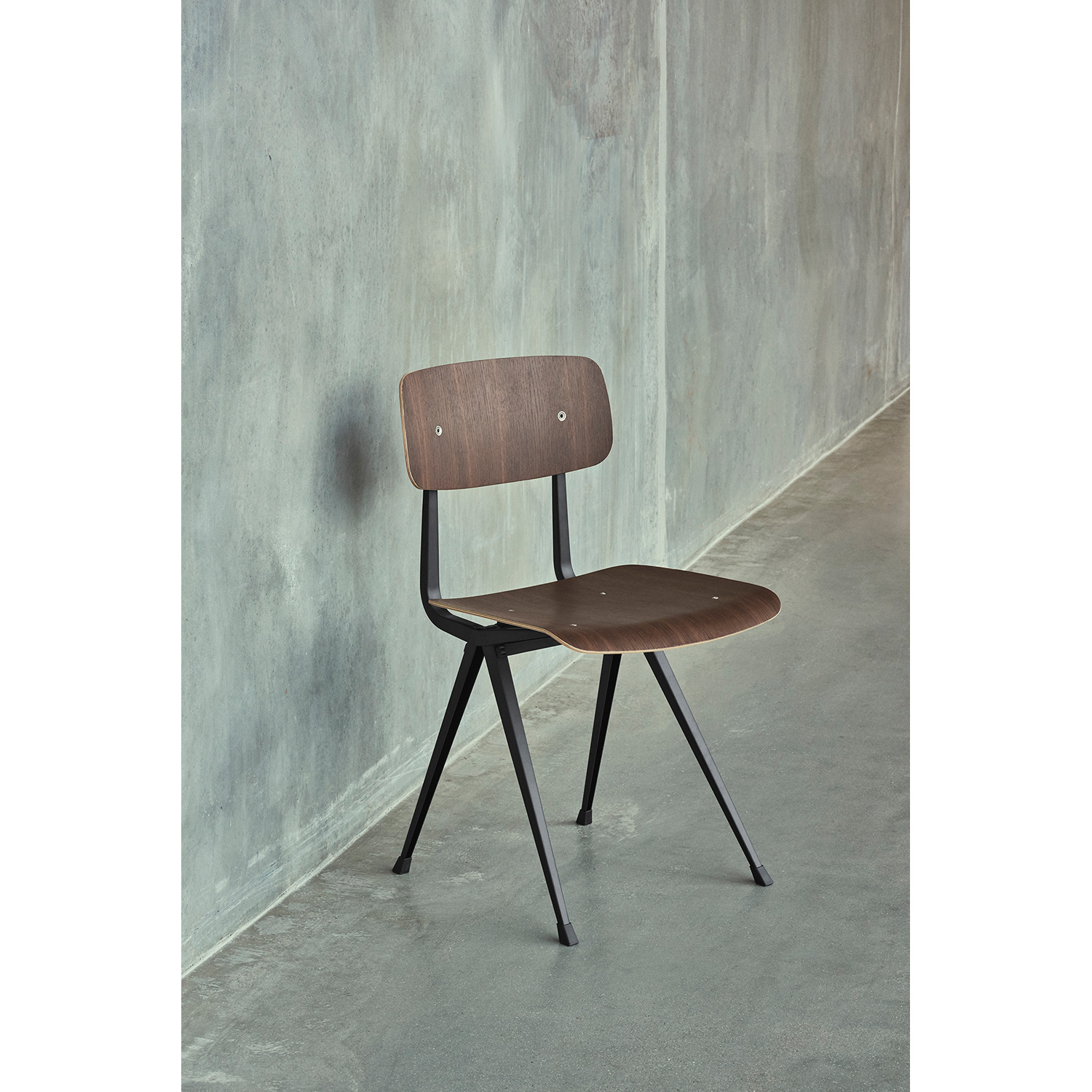 Result chair, black/oak smoked oiled seat