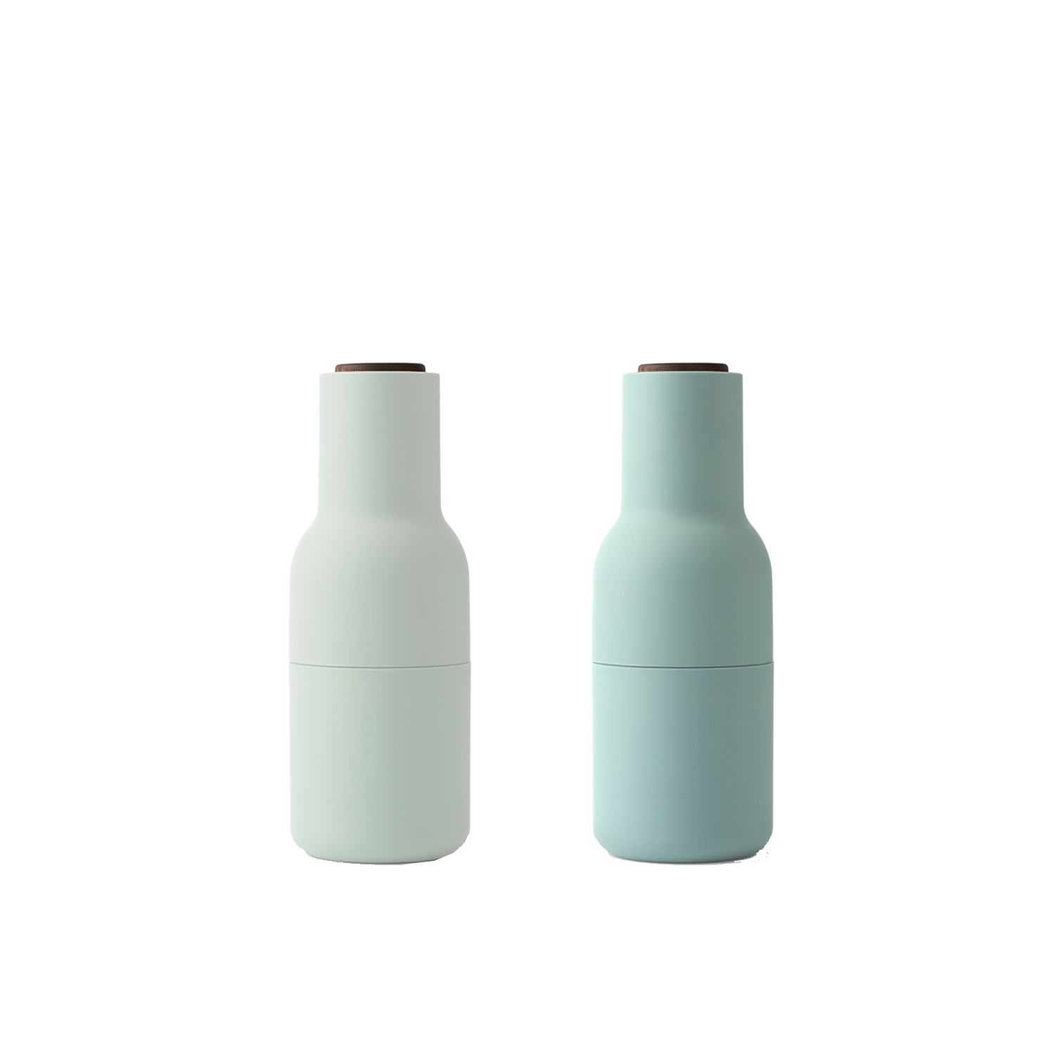 Bottle grinder 2-pack, mossgrön/valnöt