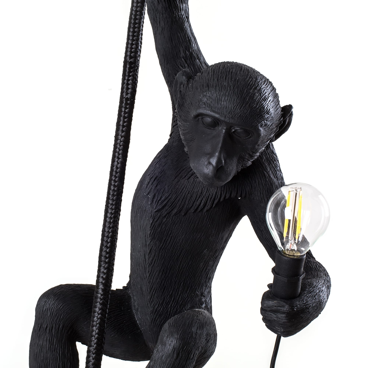 Monkey lamp, med rep, utomhus