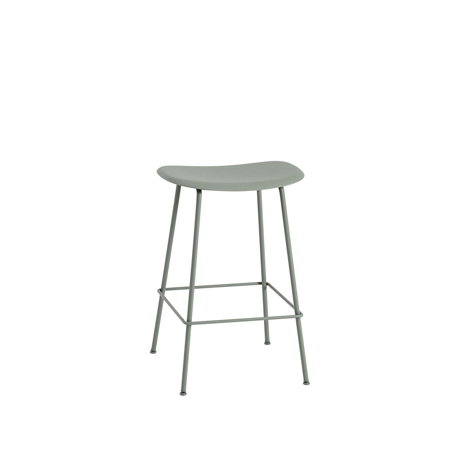 Fiber Tube bar stool, dusty green