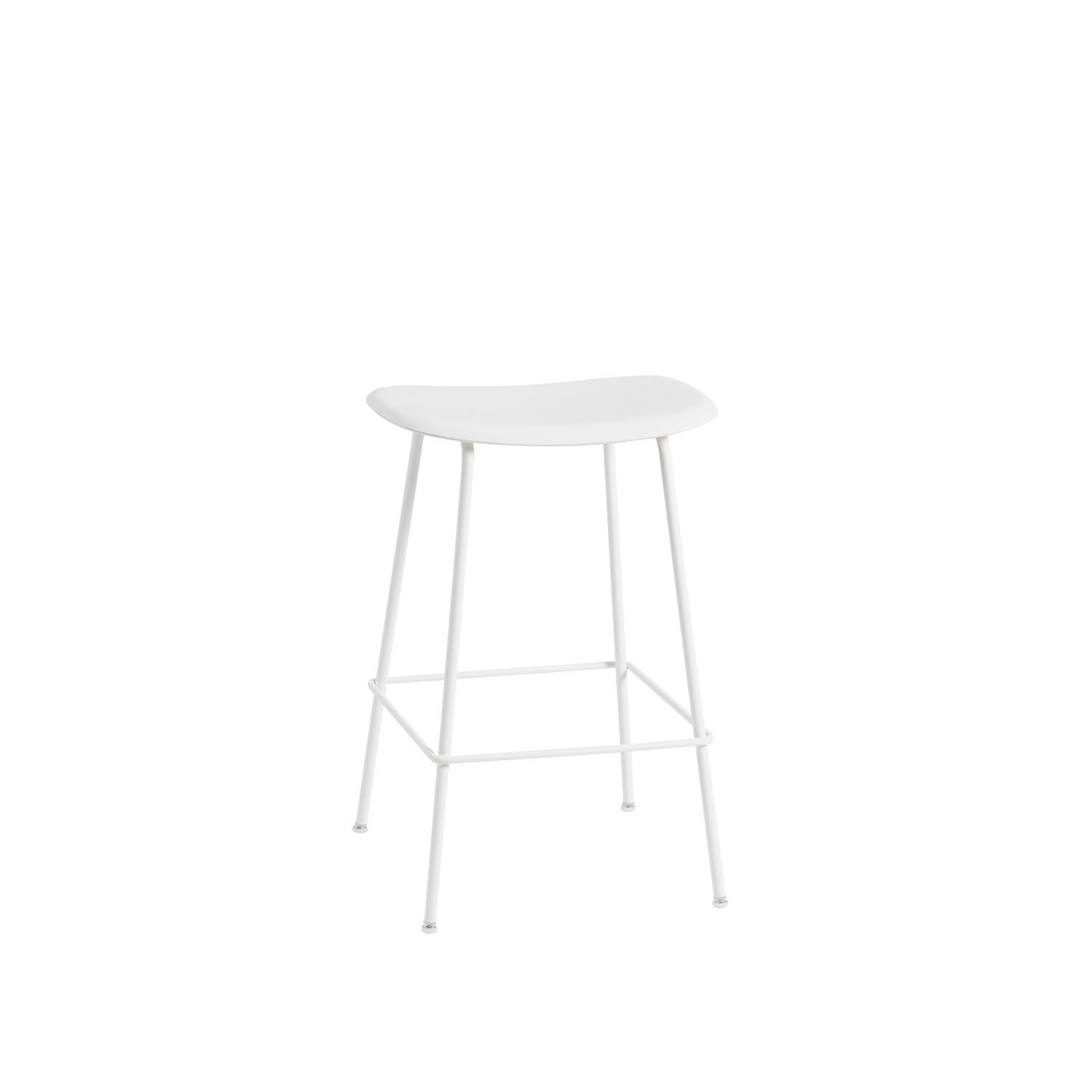 Fiber Tube bar stool, naturell vit/vit