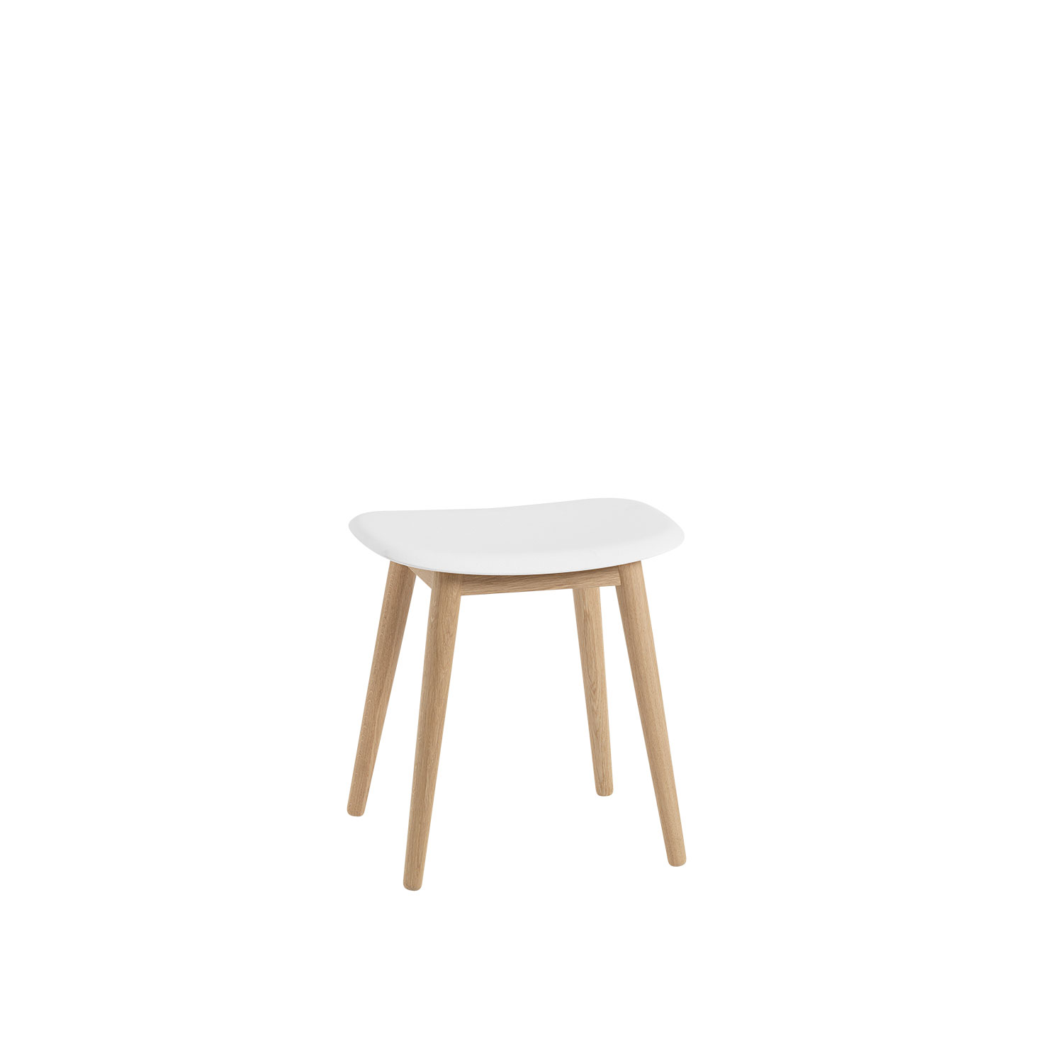Fiber Wood stool base, naturell vit/ek