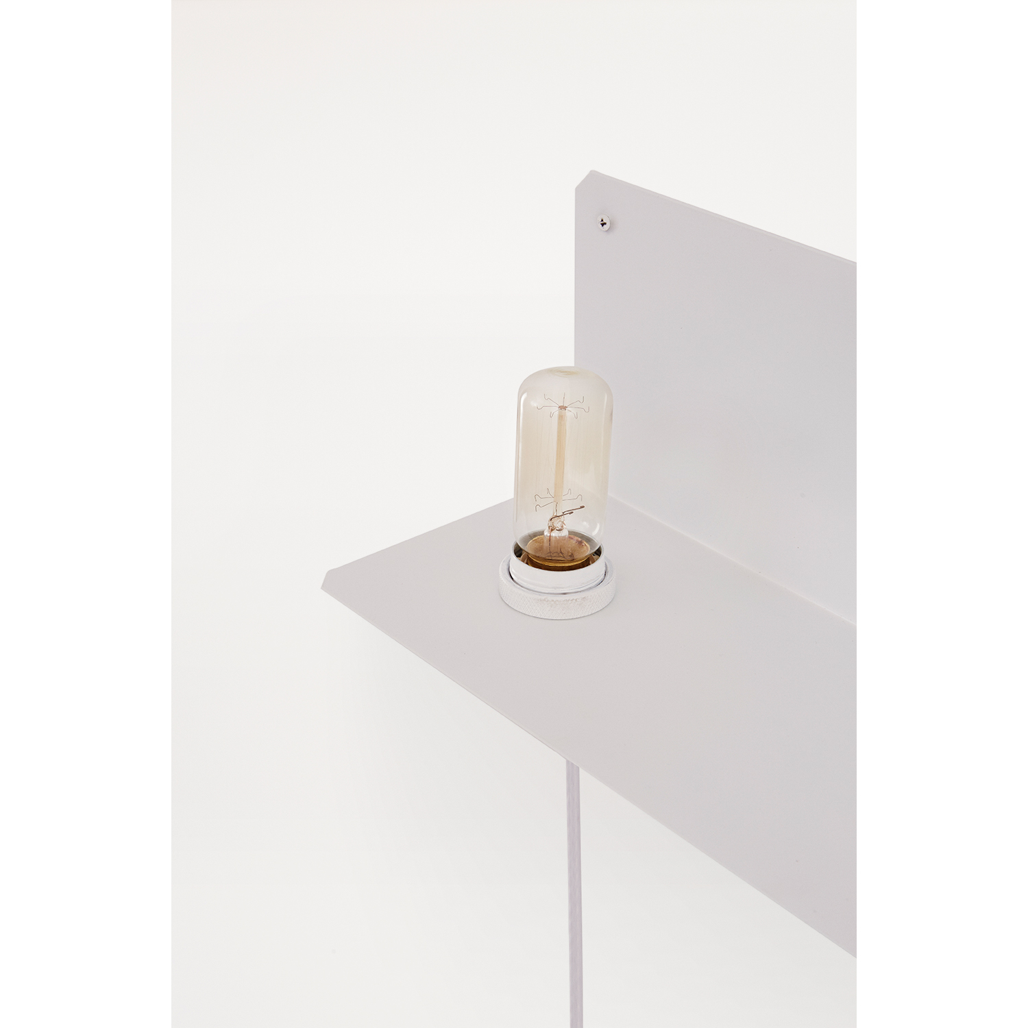 90° Wall Light lamphylla, vit
