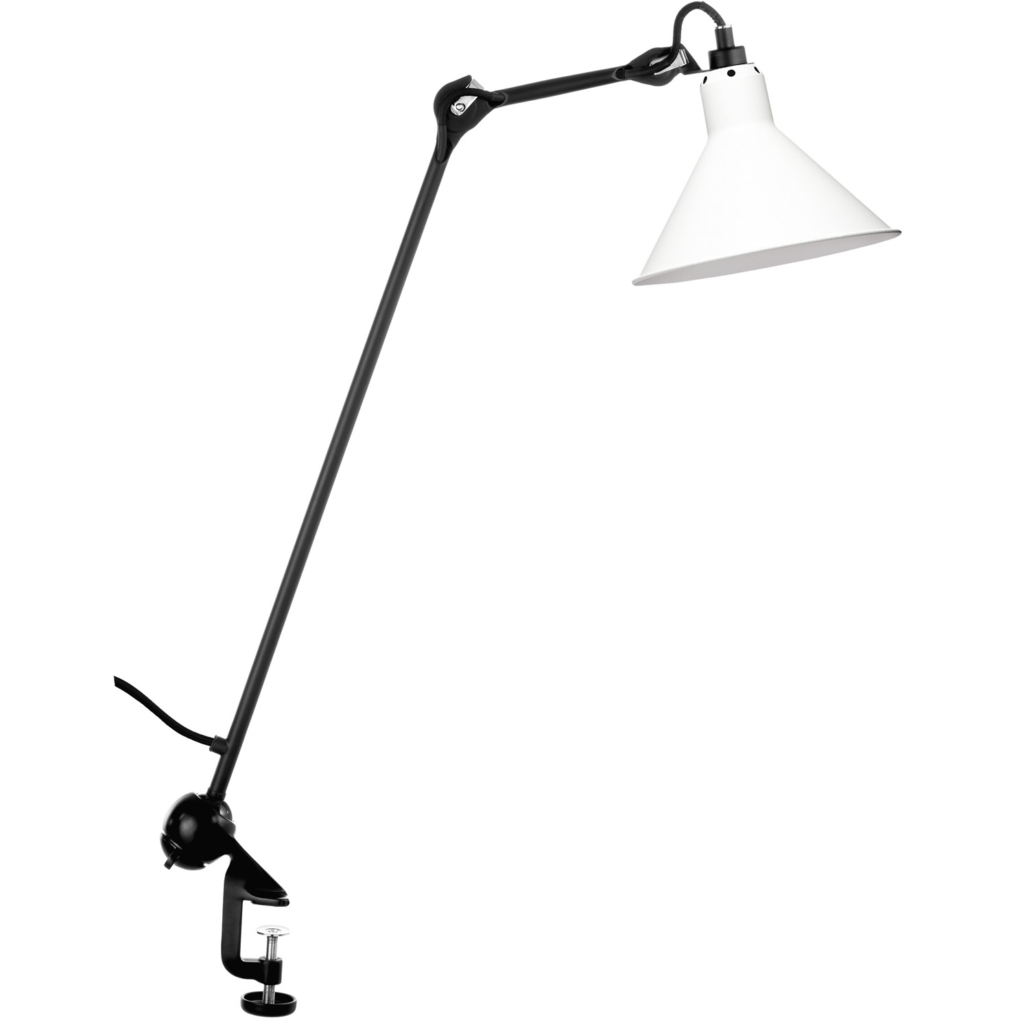 N°201 architect bordslampa, svart/vit