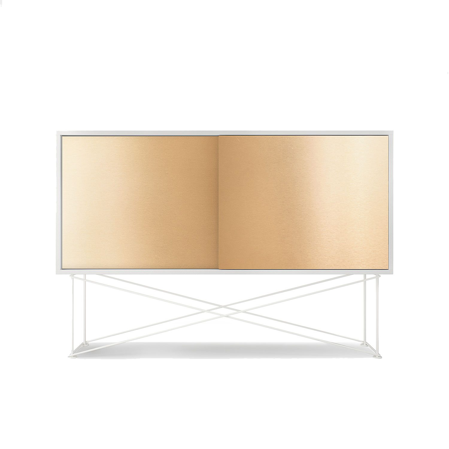 Vogue sideboard 136h, vit/2B/vit