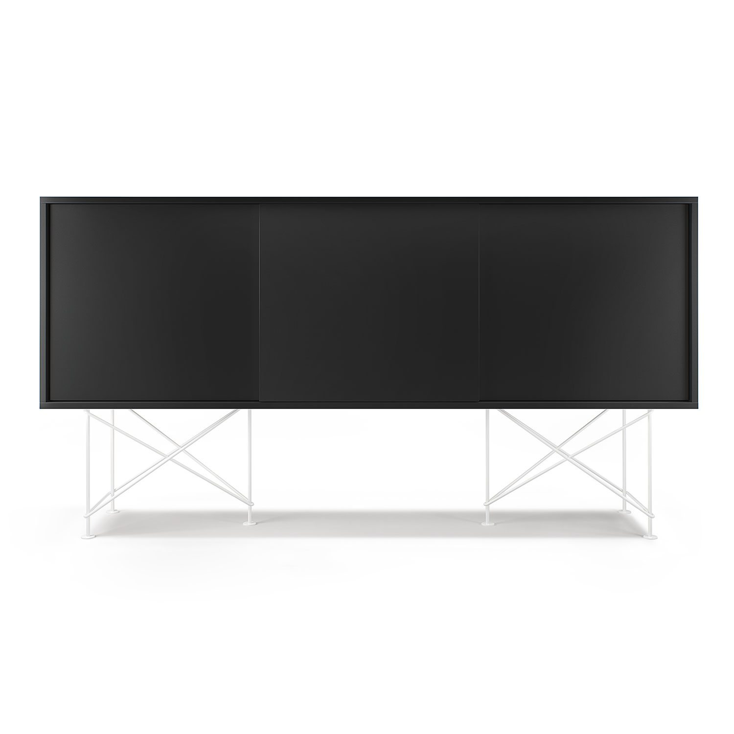 Vogue sideboard 180h, antracit/3A/vit