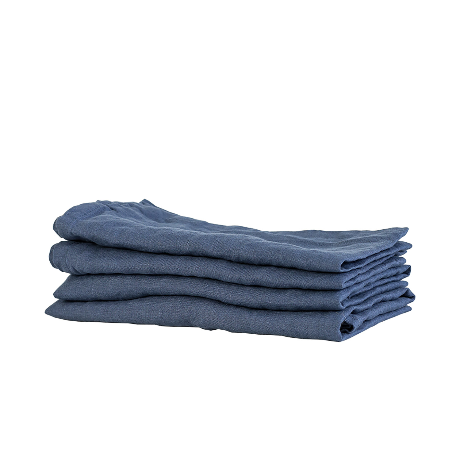 Washed Linen kökshandduk, navy blue