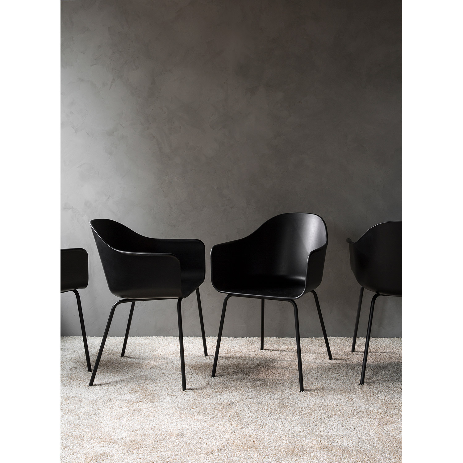 Harbour Chair 4-pack, svart/svart