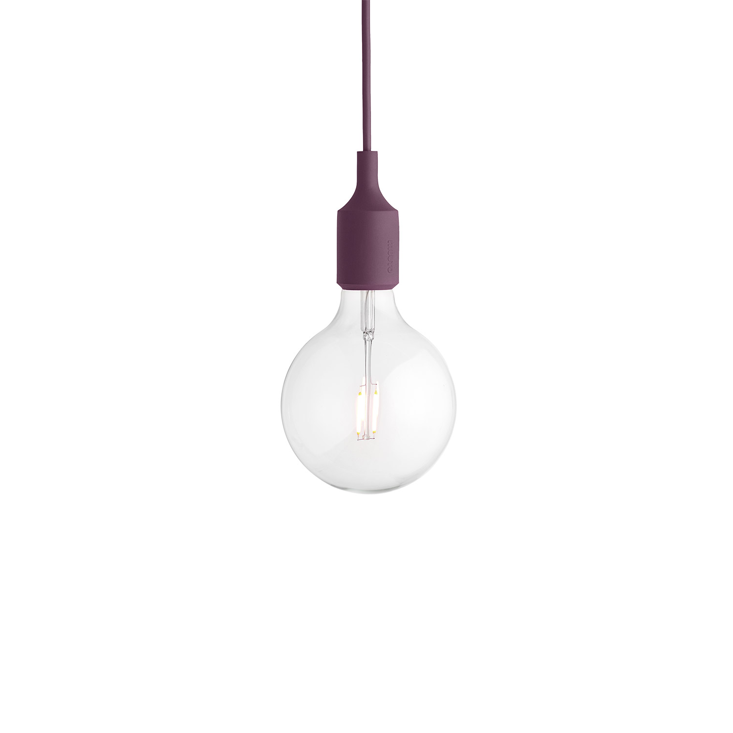 E27 lampa LED, burgundy