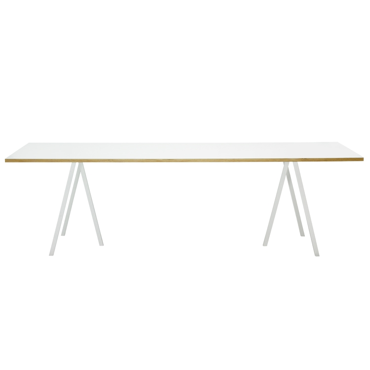 Loop Stand Table bord 250 cm, vit