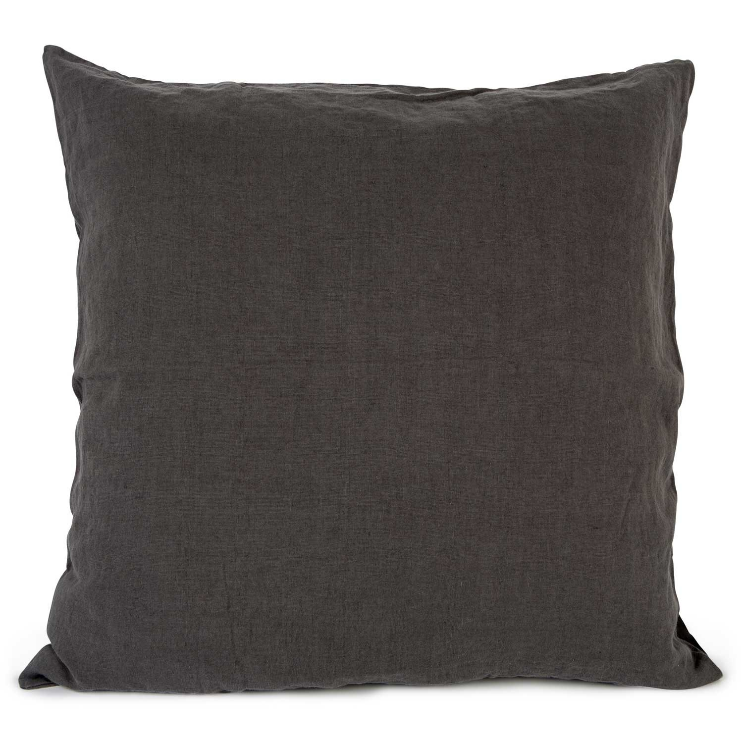 Washed Linen kuddfodral 65x65, dark grey